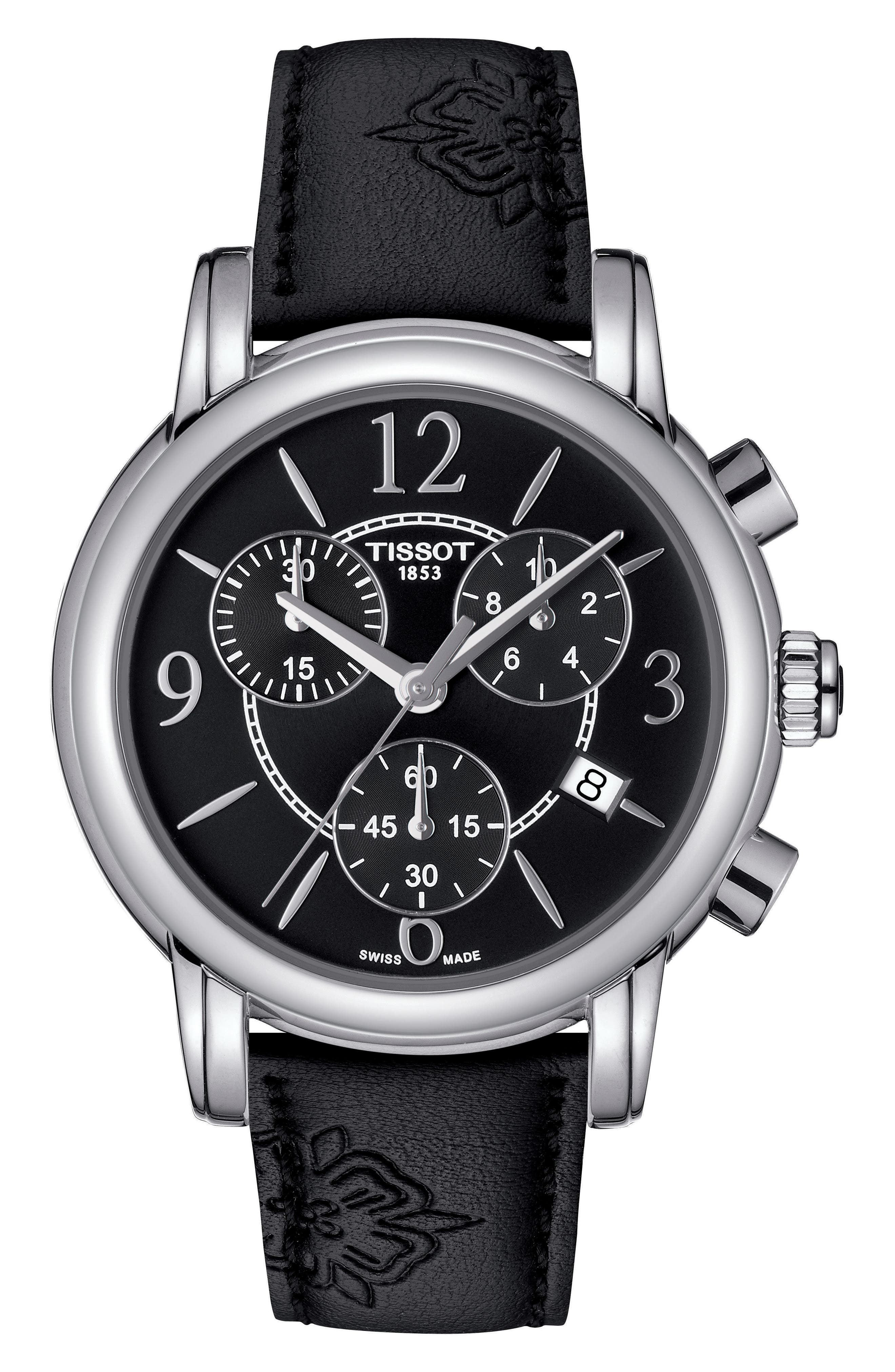 Dressport Chronograph Watch, 35mm,                         Main,                         color, Black/ Silver