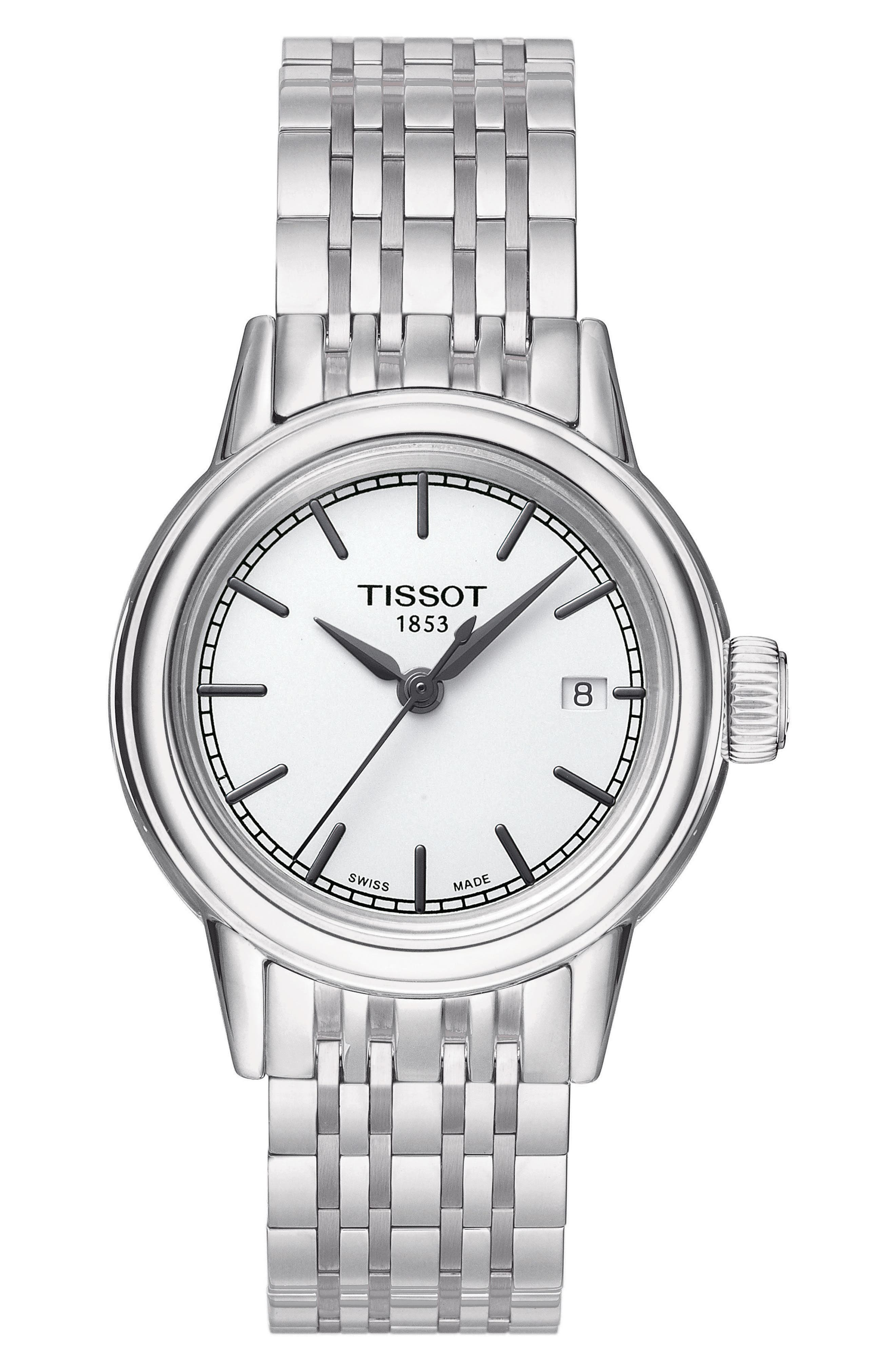 TISSOT Carson Bracelet Watch, 28mm