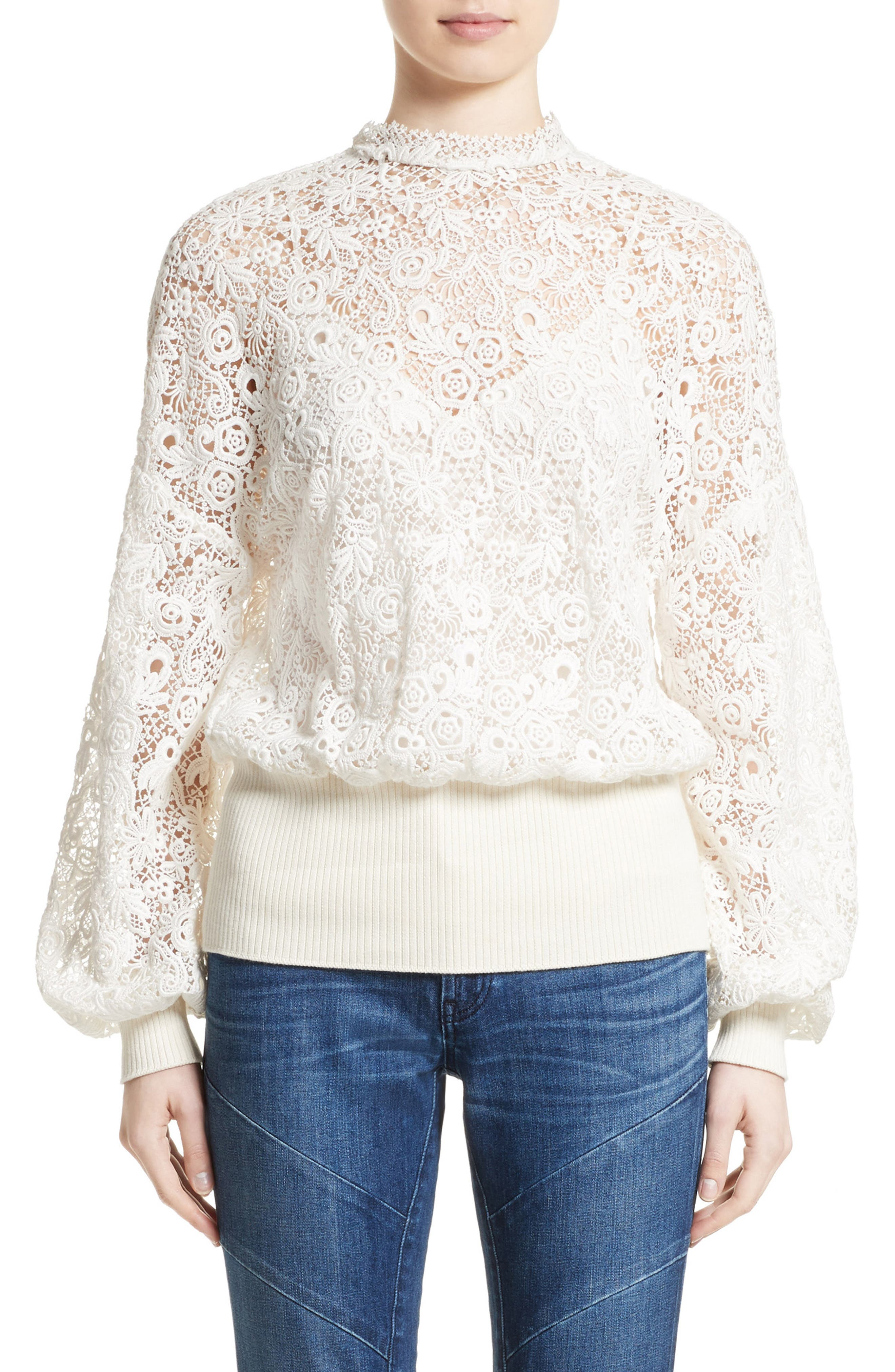 Lantana Top,                         Main,                         color, Antique White