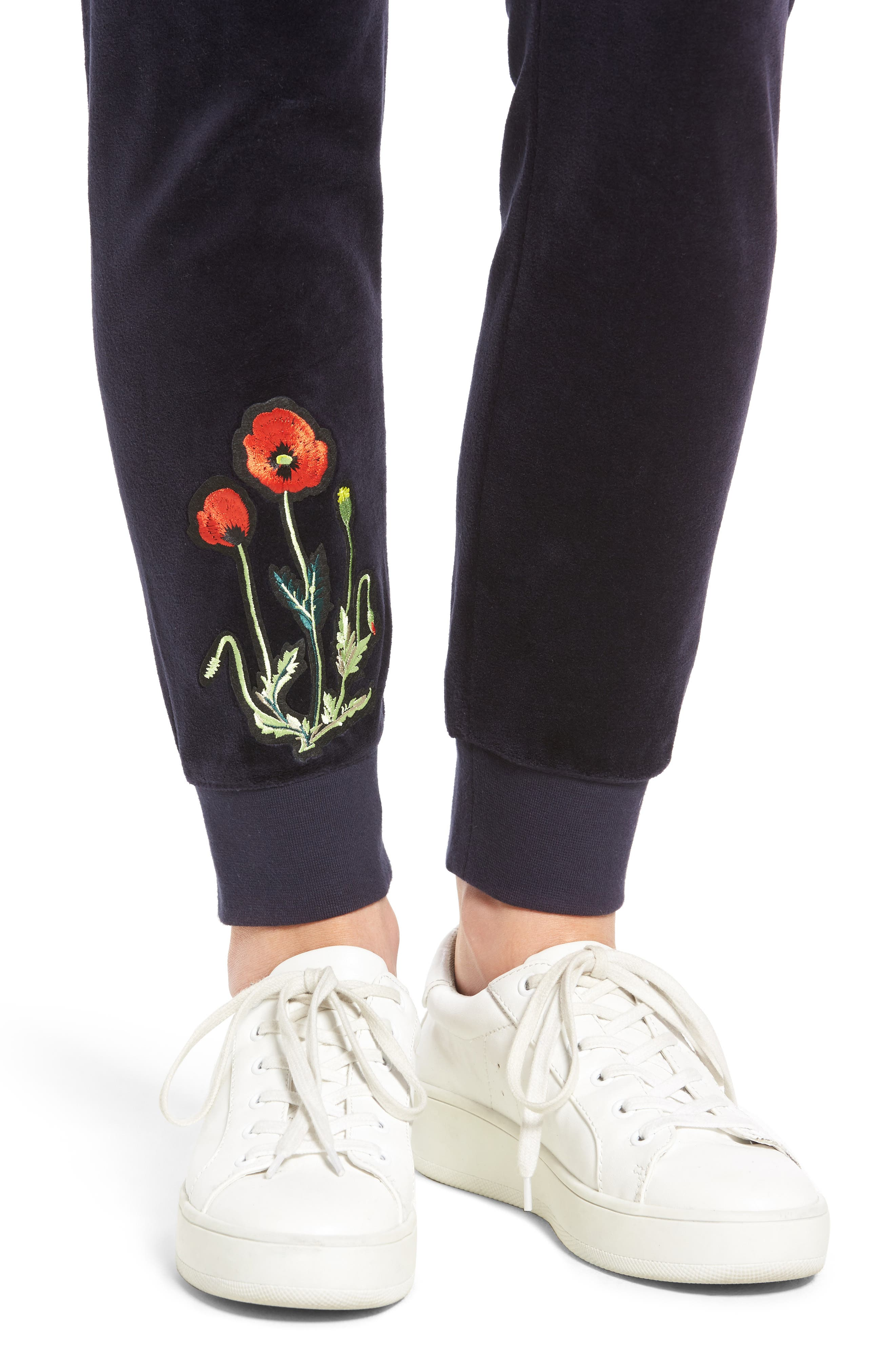 Alternate Image 4  - Juicy Couture Pretty Thing Zuma Velour Track Pants