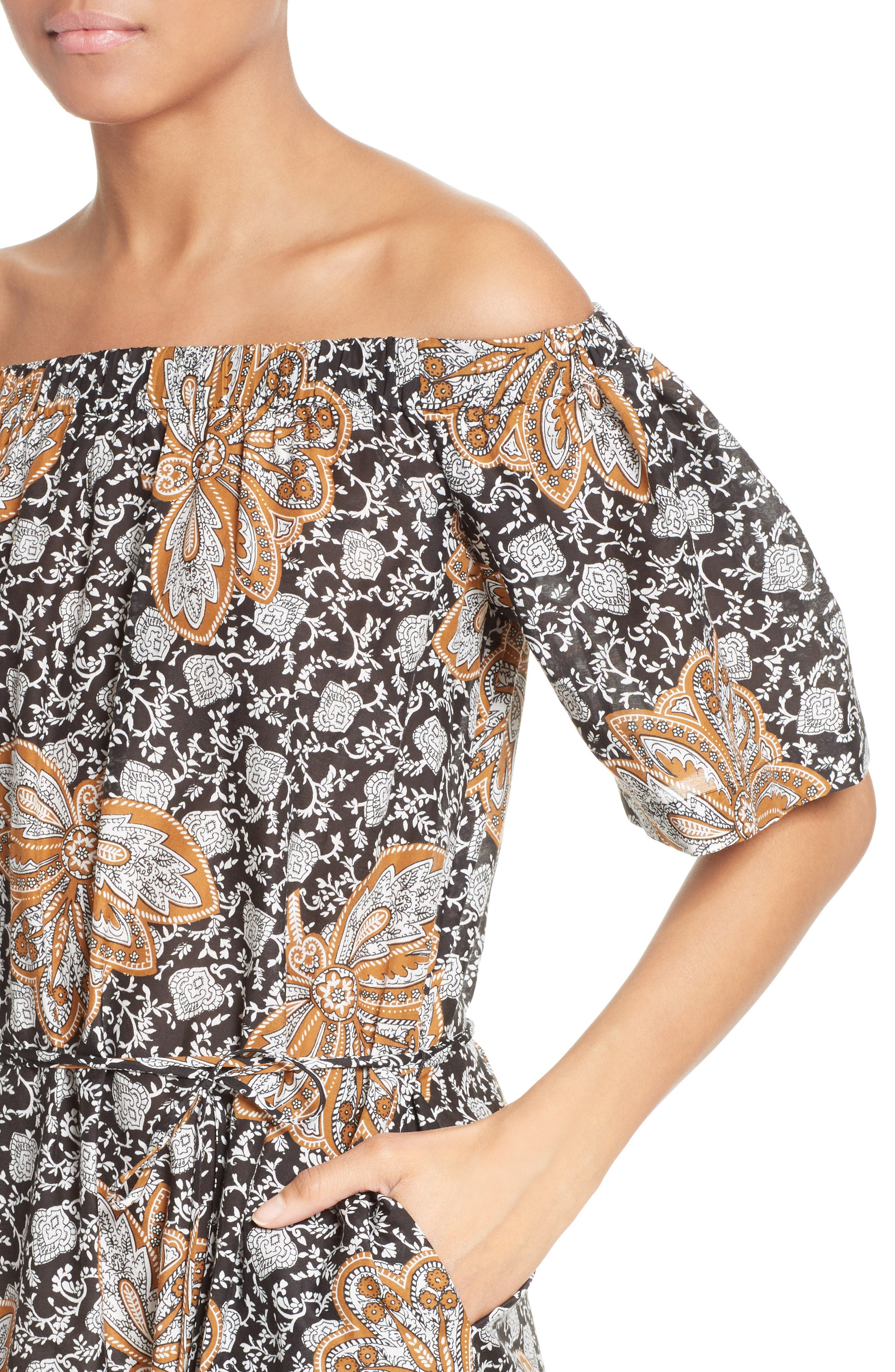 Alternate Image 4  - A.L.C. Doris Print Off the Shoulder Dress