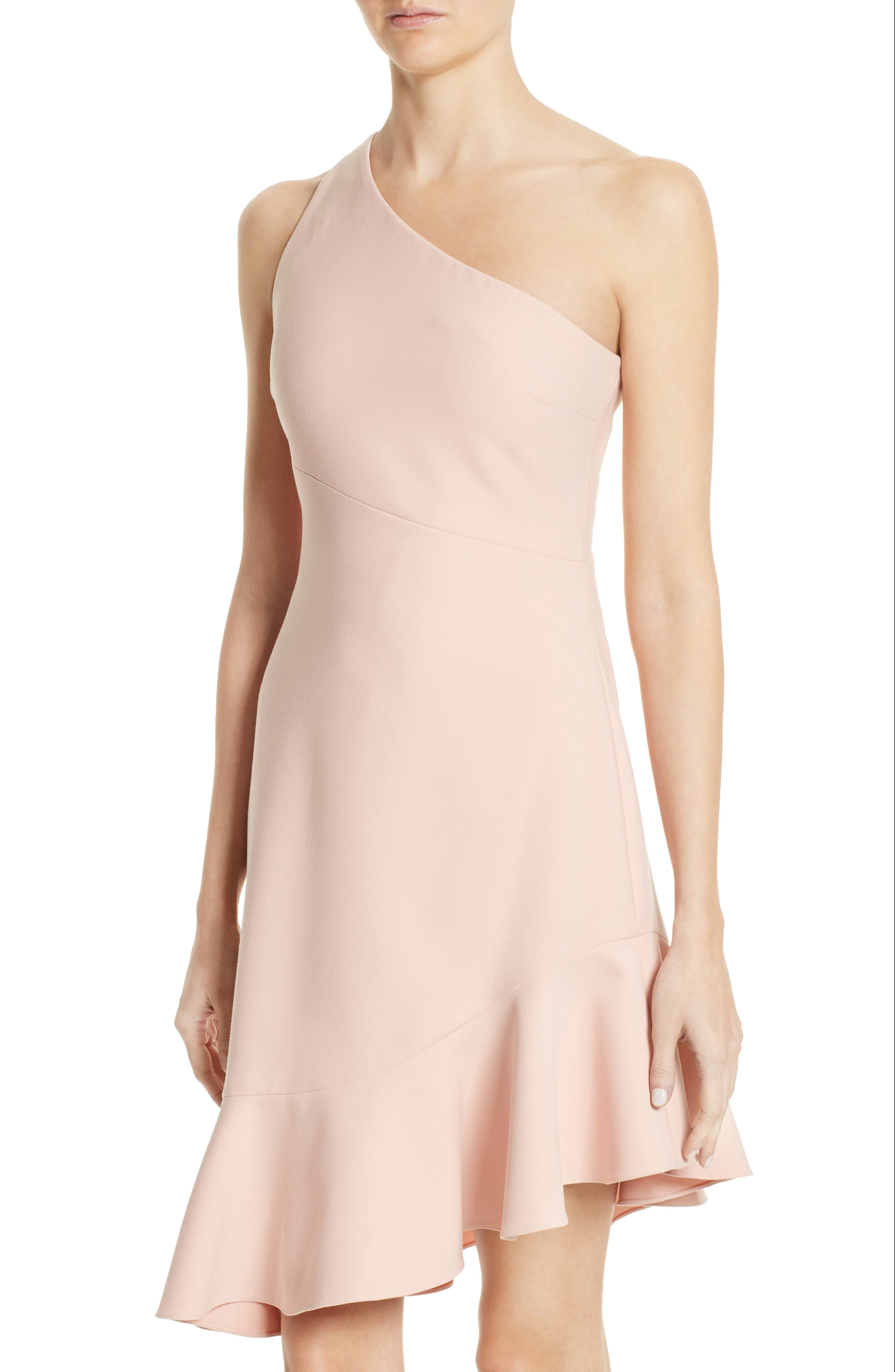 Alternate Image 4  - Cinq à Sept Stella Asymmetrical One-Shoulder Dress