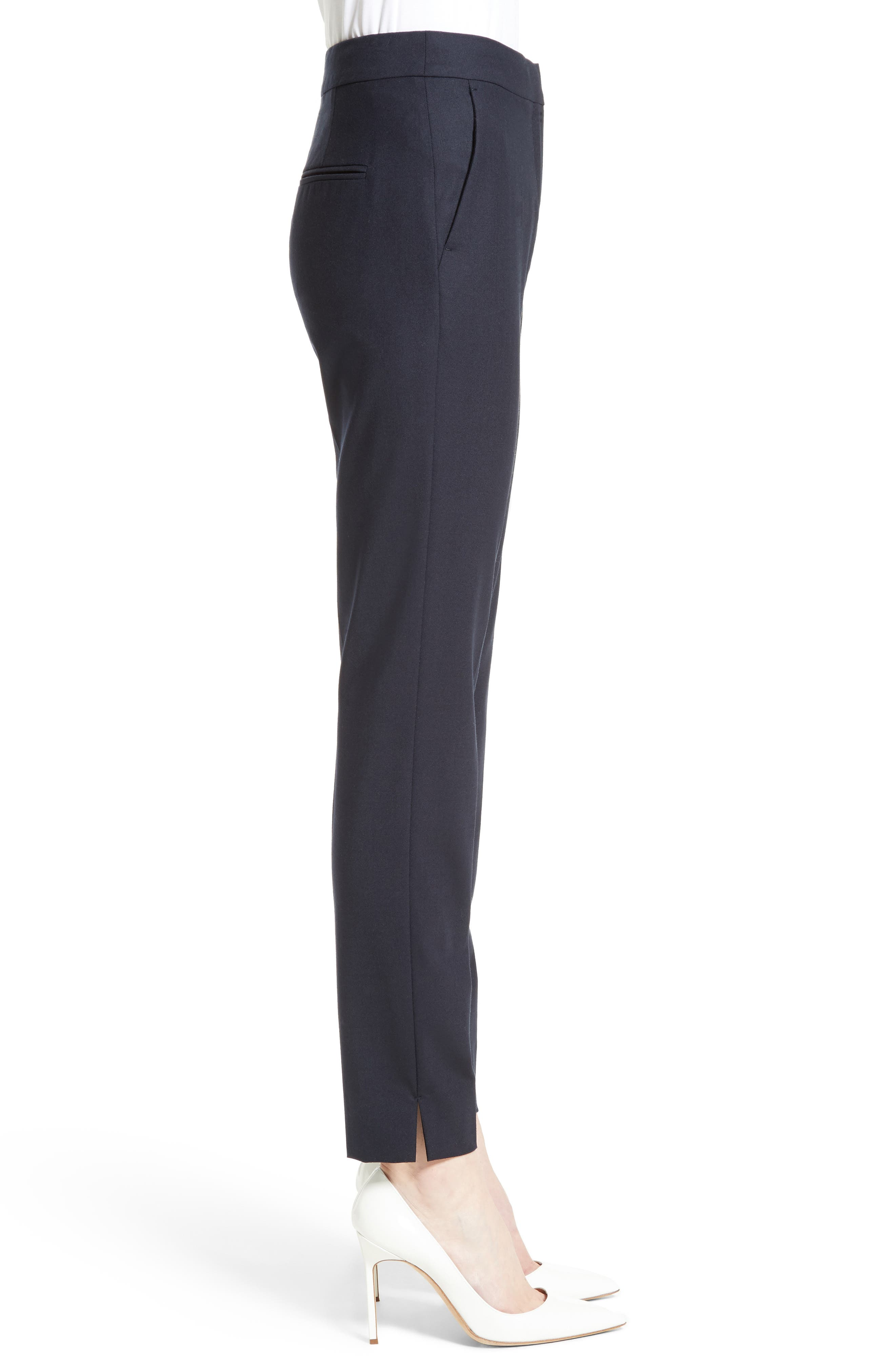 Maser Crop Stretch Wool Pants,                             Alternate thumbnail 5, color,                             Ultra Marine