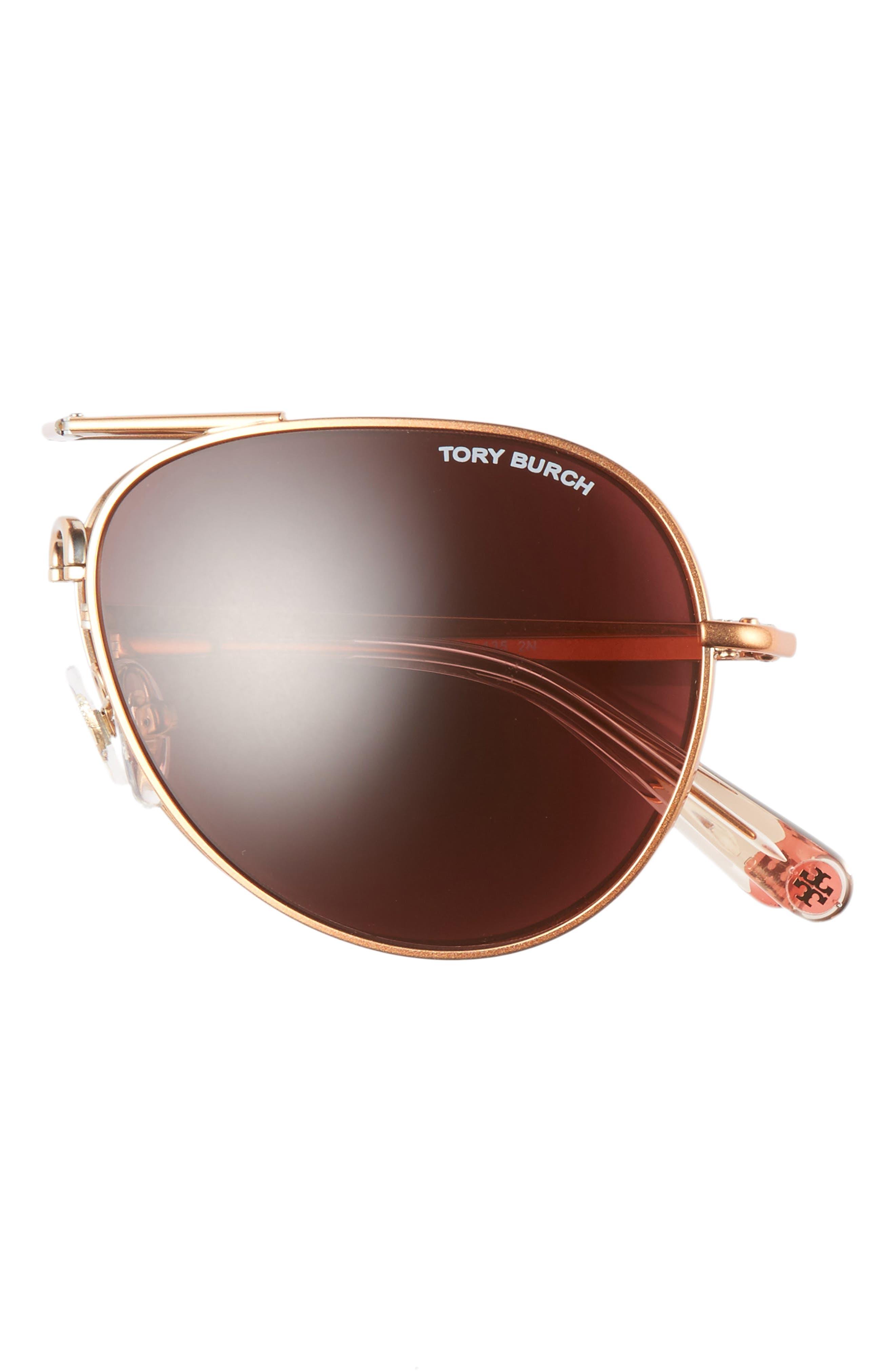 Alternate Image 2  - Tory Burch 58mm Foldable Aviator Sunglasses