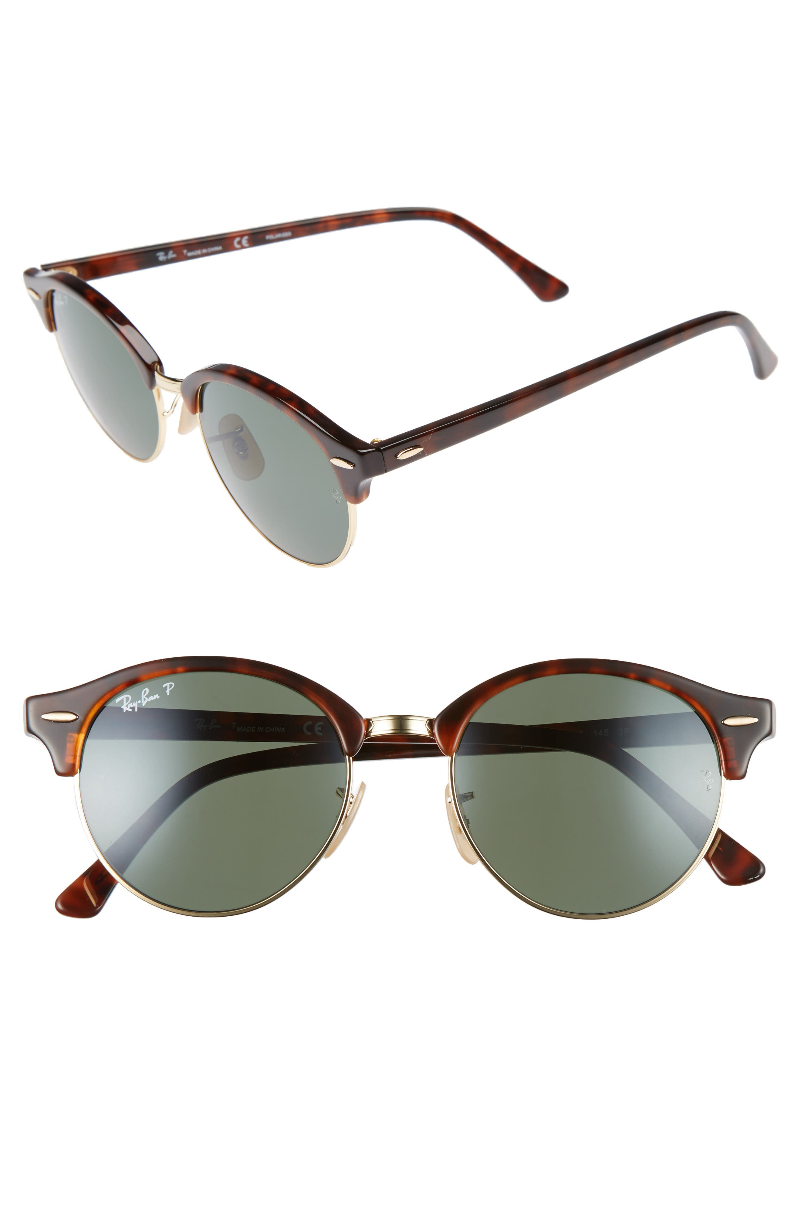 Alternate Image 1 Selected - Ray-Ban Clubround 51mm Polarized Sunglasses