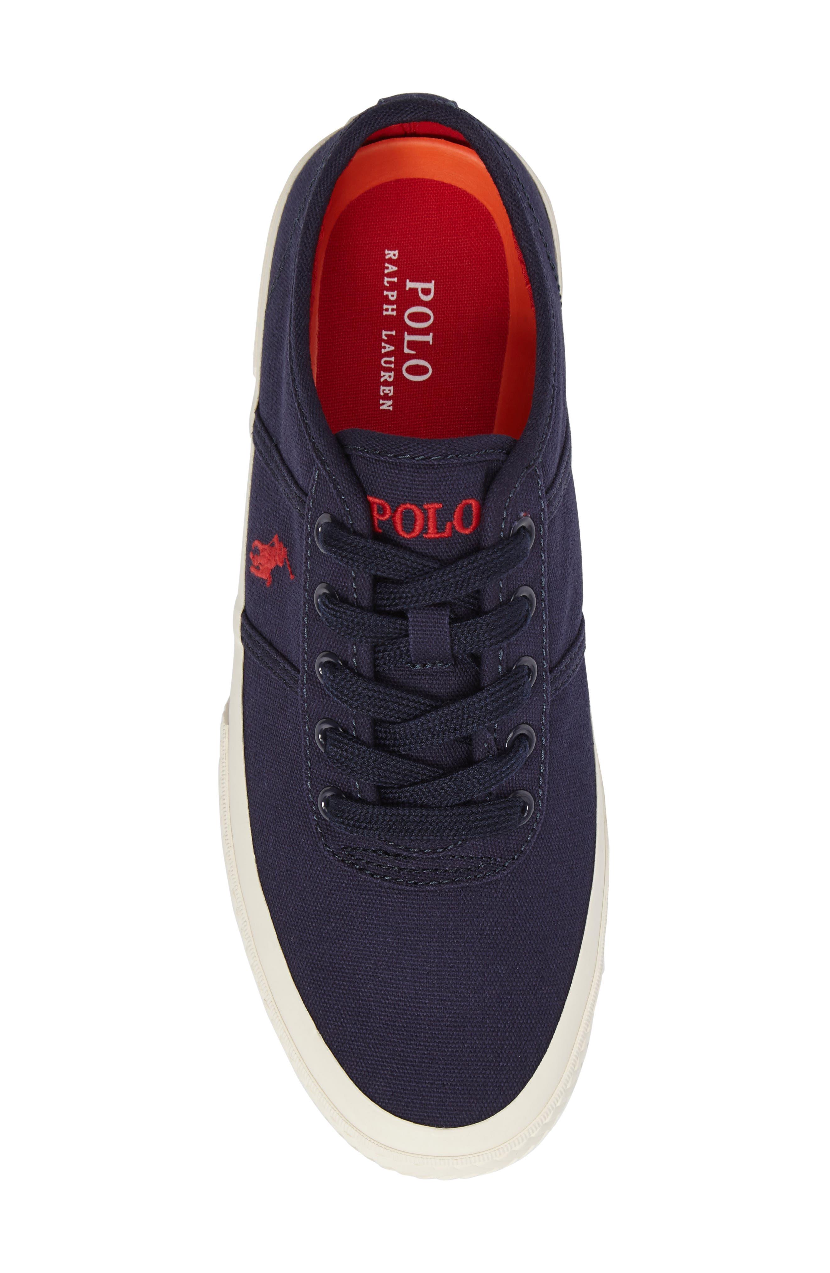 Polo Ralph Lauren Tyrian Sneaker,                             Alternate thumbnail 5, color,                             Newport Navy