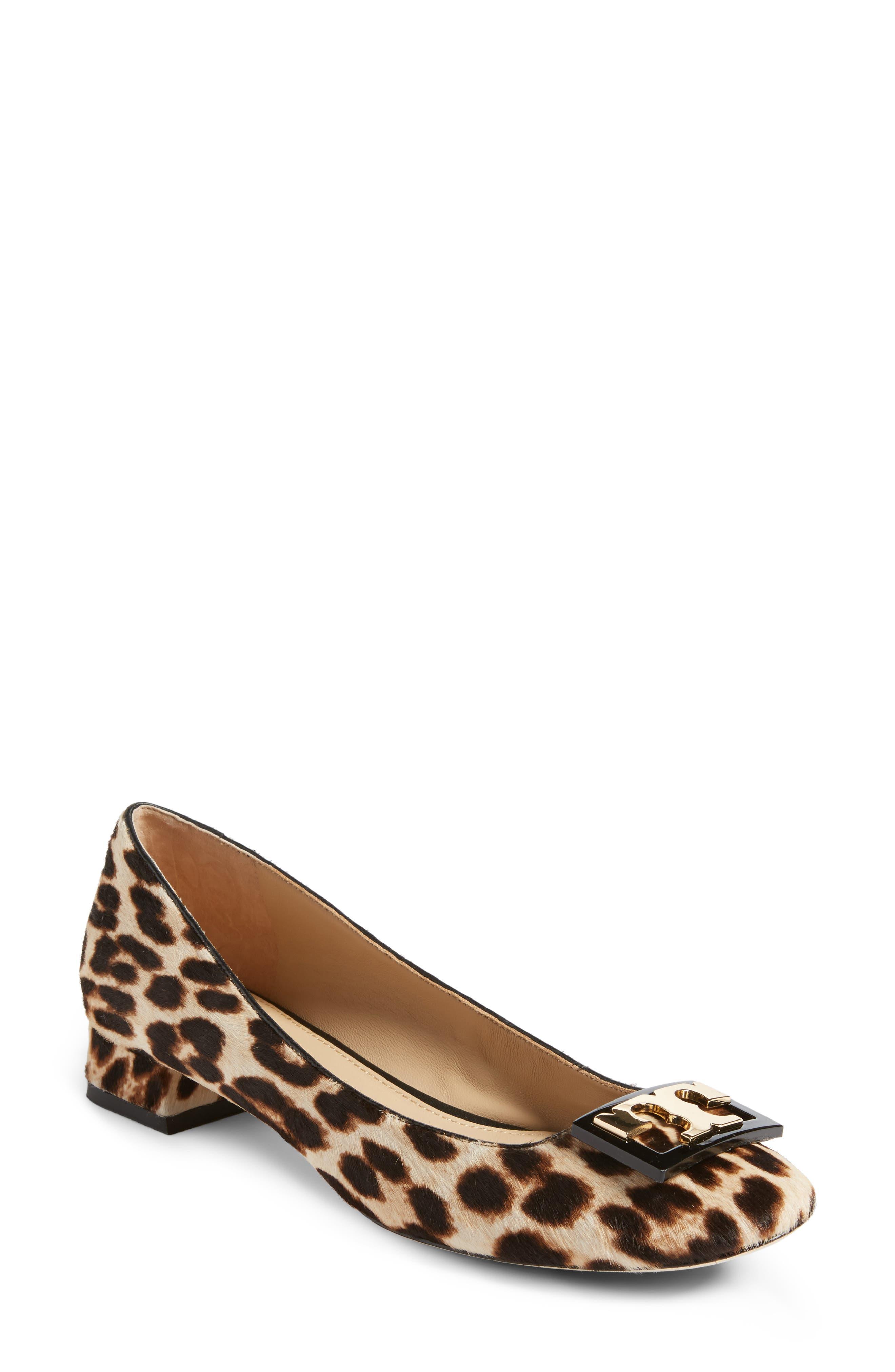 Gigi Block Heel Pump,                         Main,                         color, Natural Leopard