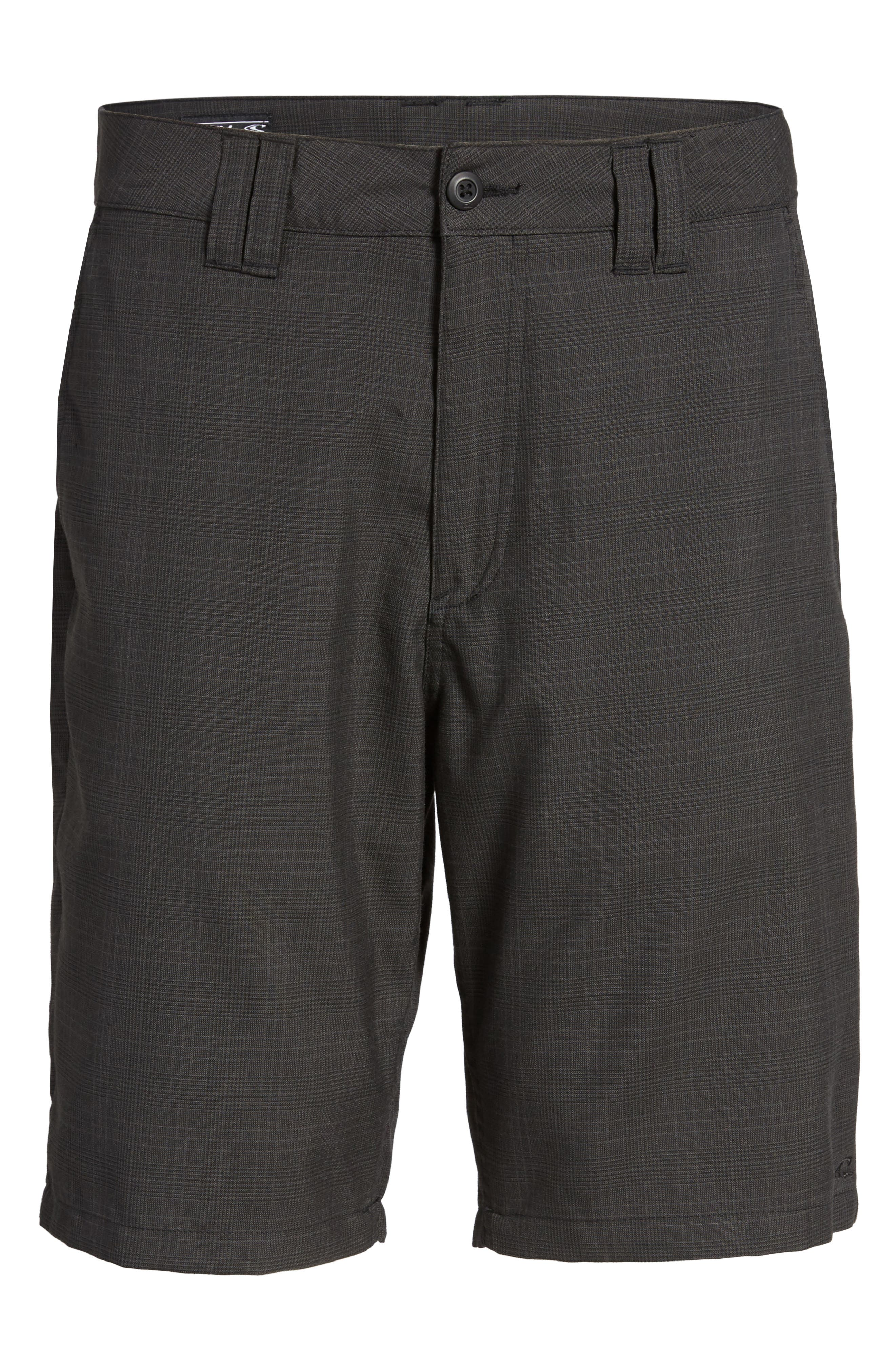 Delta Glen Plaid Shorts,                             Alternate thumbnail 6, color,                             Black