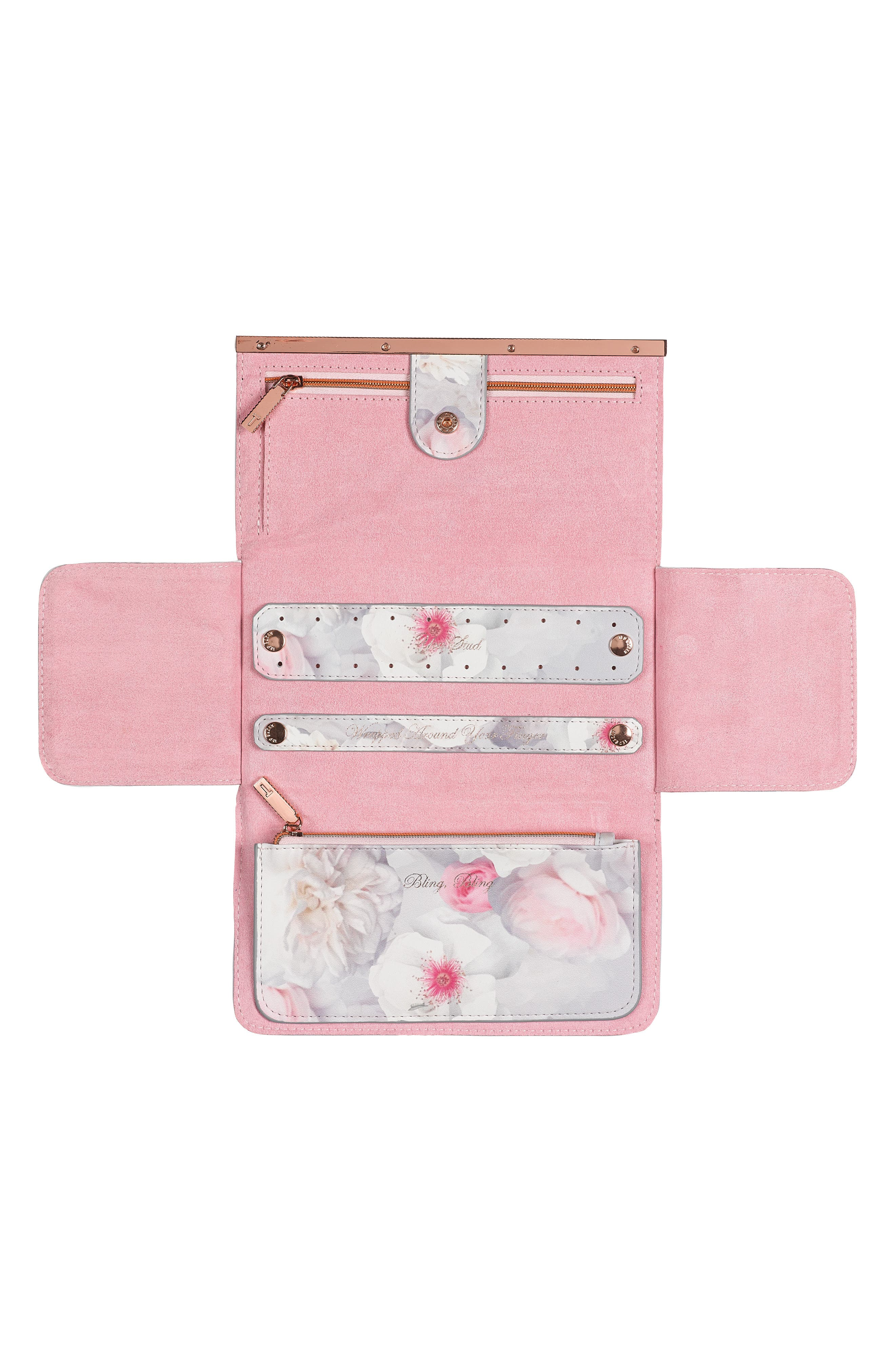 Alternate Image 2  - Ted Baker London Faux Leather Jewelry Roll