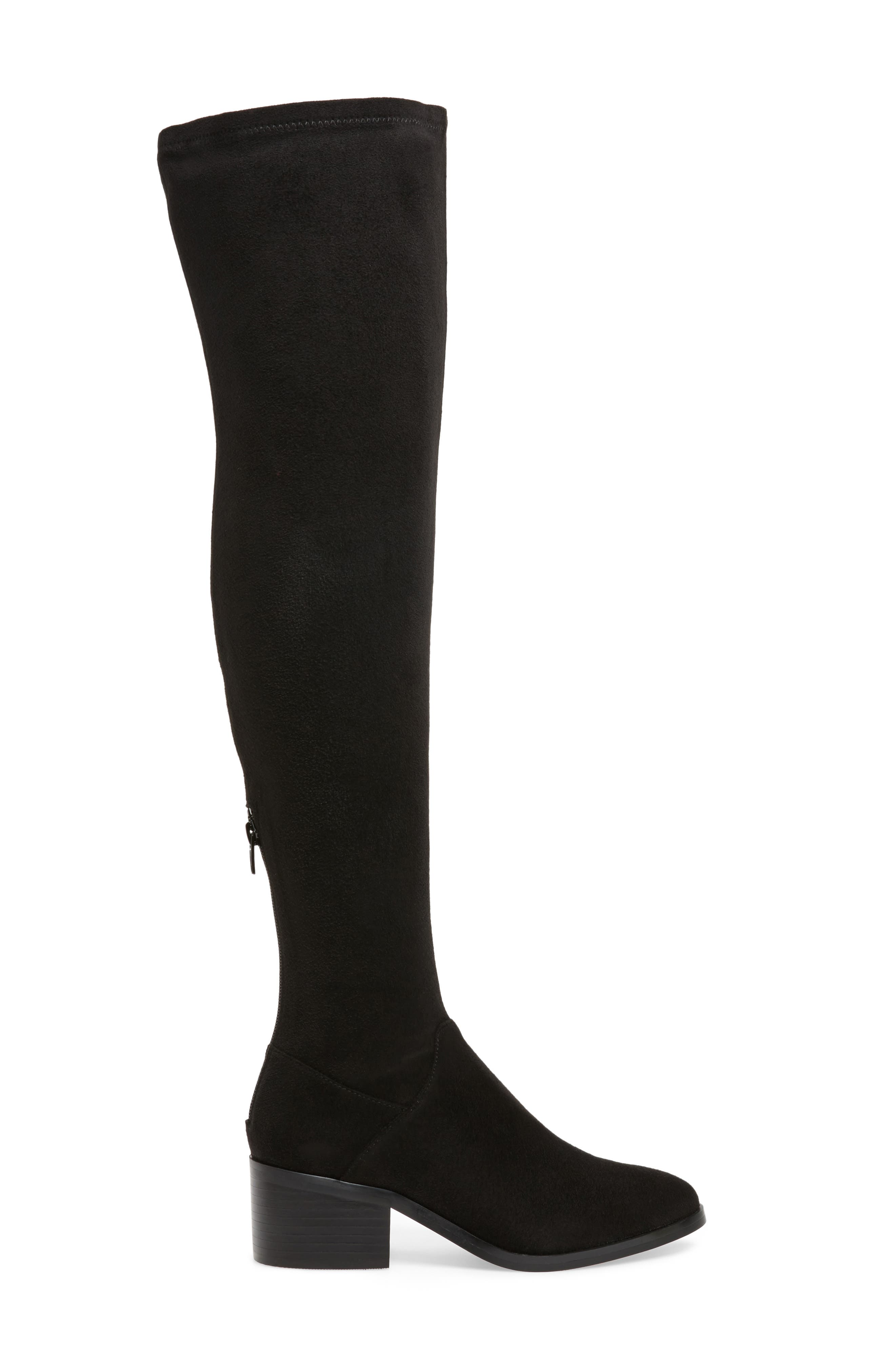 Gabbie Thigh High Boot,                             Alternate thumbnail 3, color,                             Black