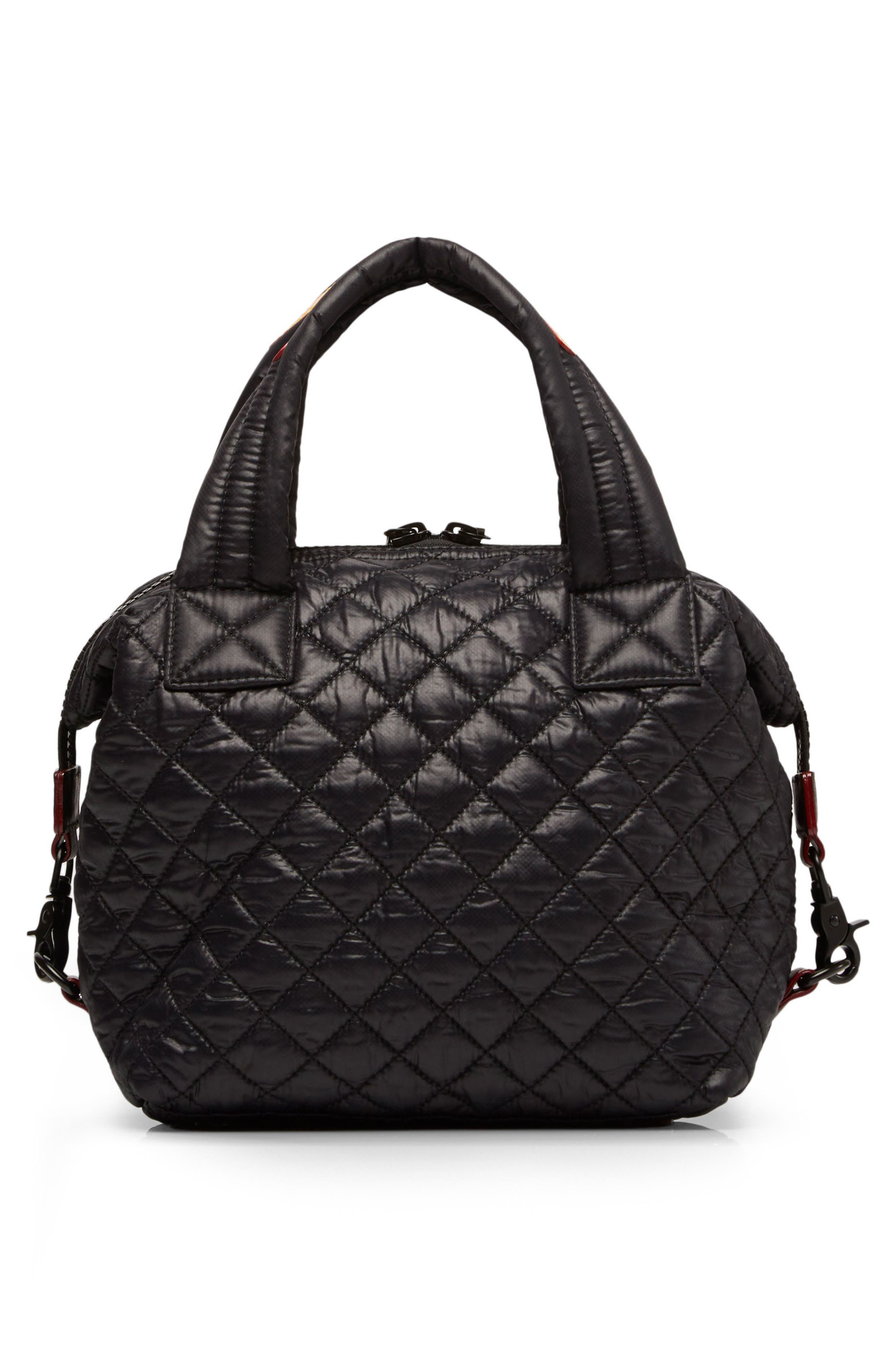 Small Sutton Bag,                             Alternate thumbnail 3, color,                             Black