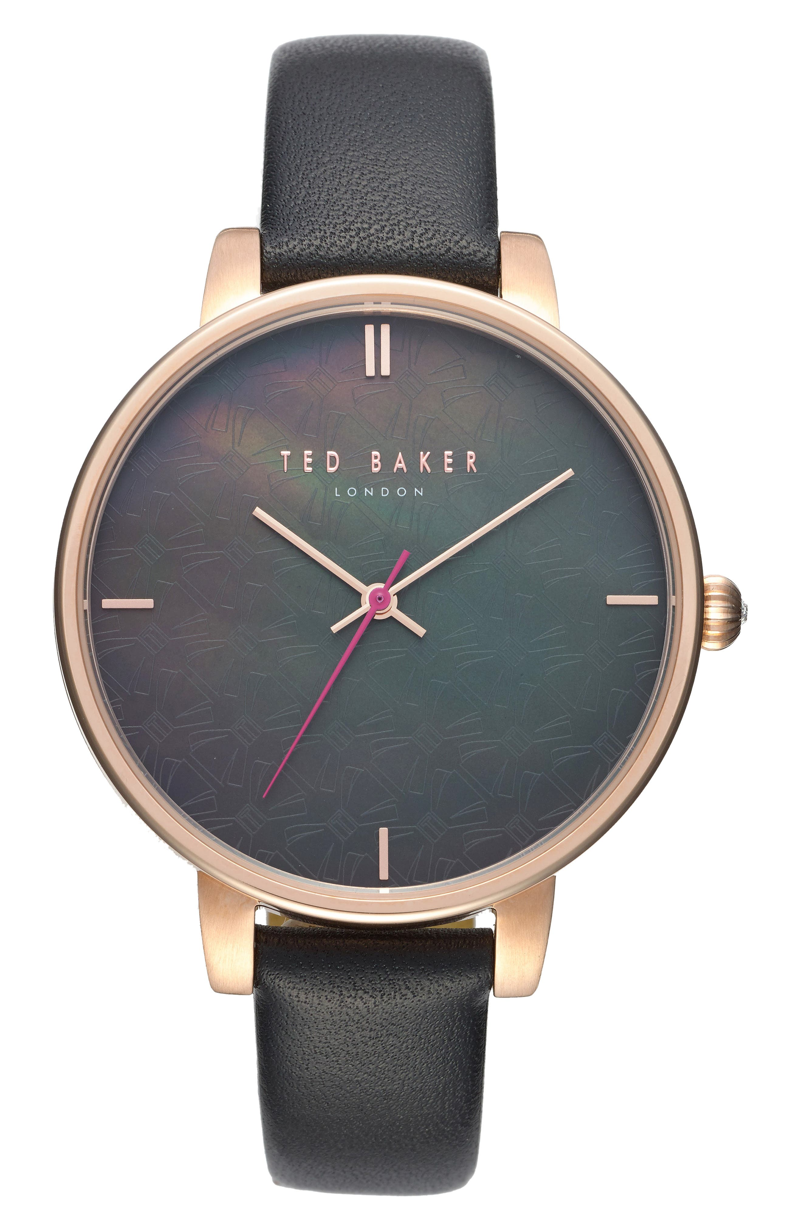 Main Image - Ted Baker London Kate Leather Strap Watch, 38mm