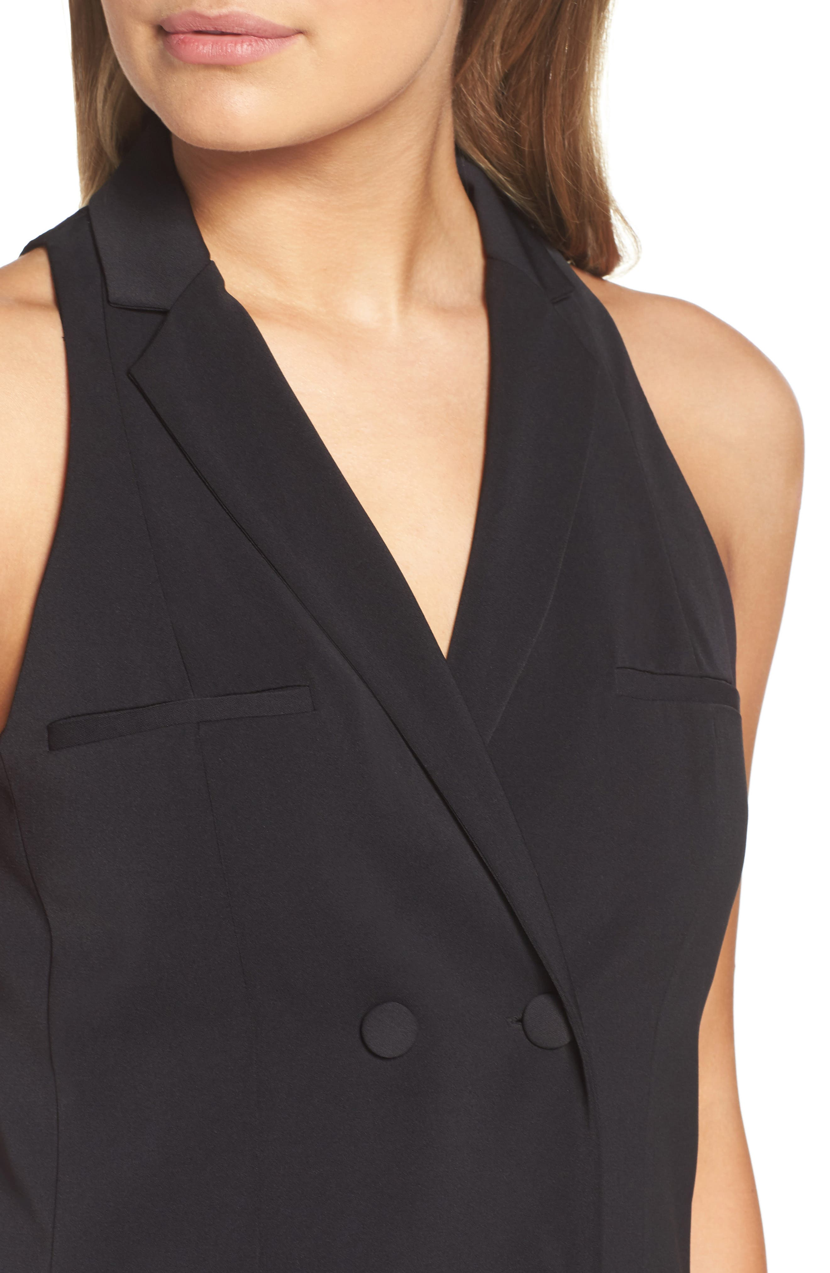 Billiard Room Dress,                             Alternate thumbnail 6, color,                             Black