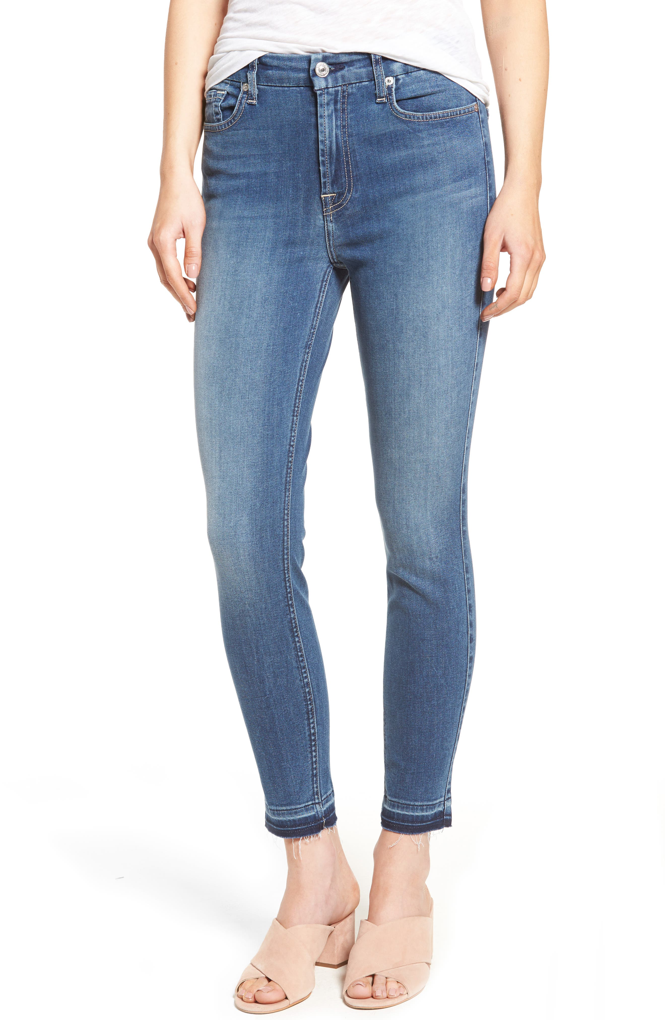 7 For All Mankind® b(air) High Waist Ankle Skinny Jeans (Bair Sunset)