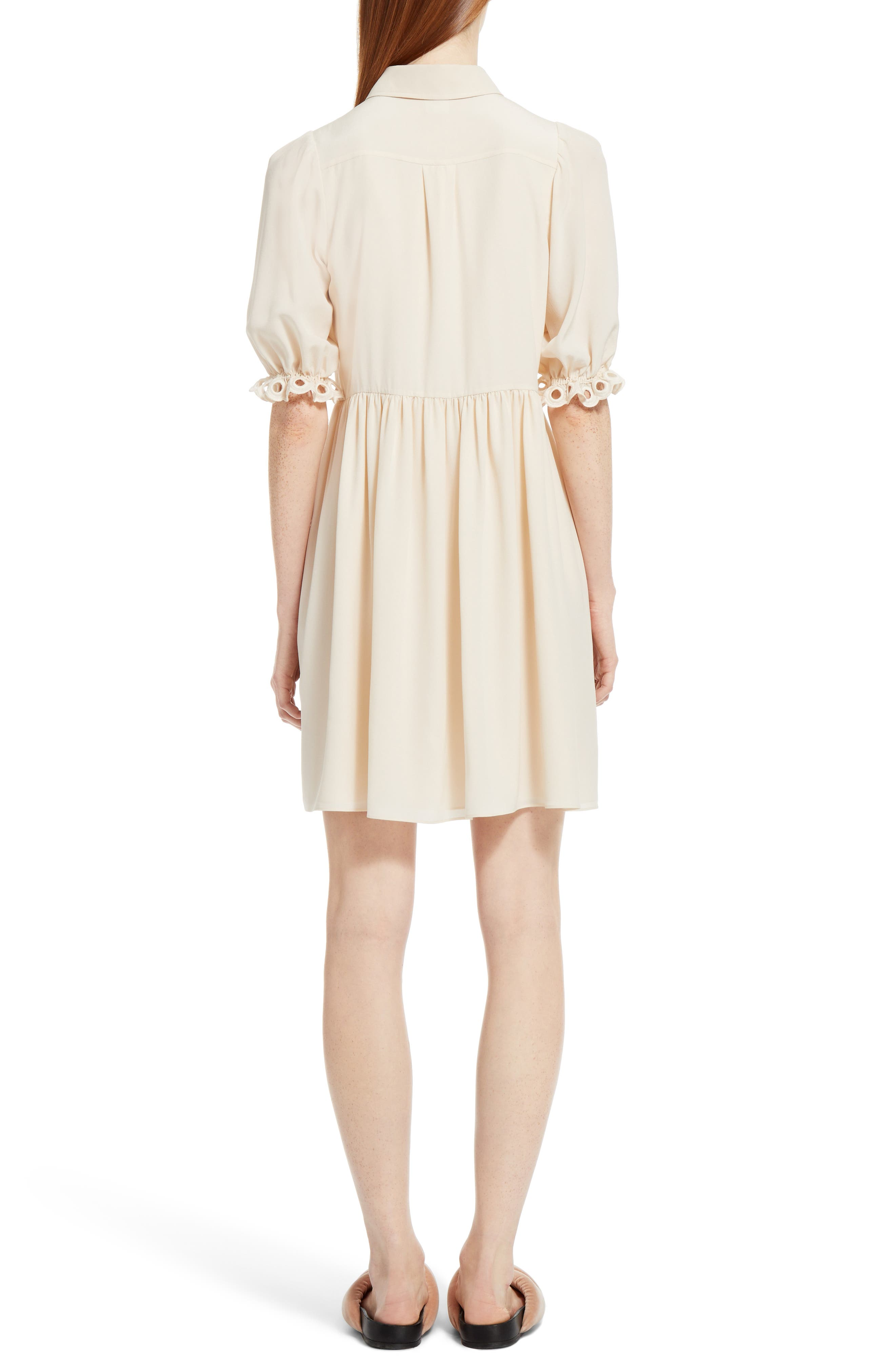 Alternate Image 2  - Chloé Eyelet Silk Shirtdress