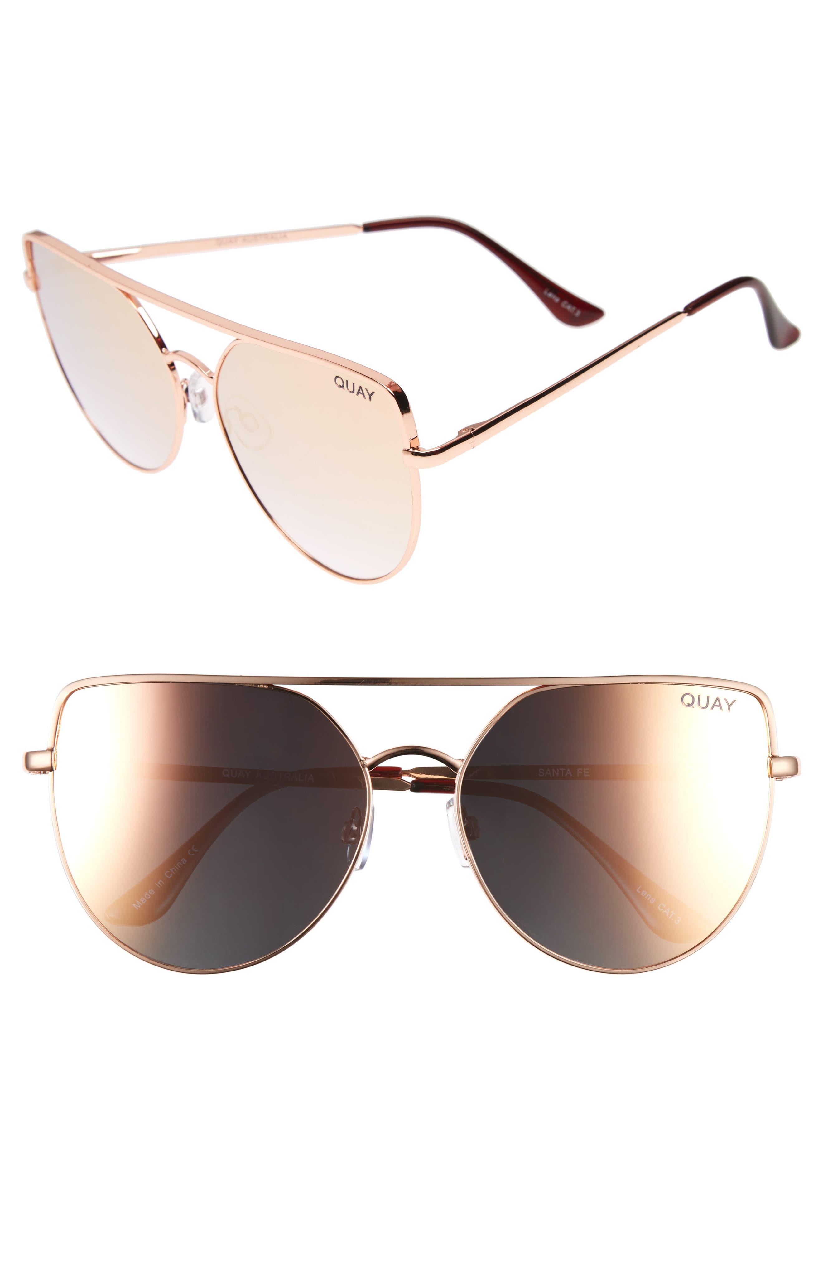 Main Image - Quay Australia x Jasmine Sanders Santa Fe 65mm Aviator Sunglasses