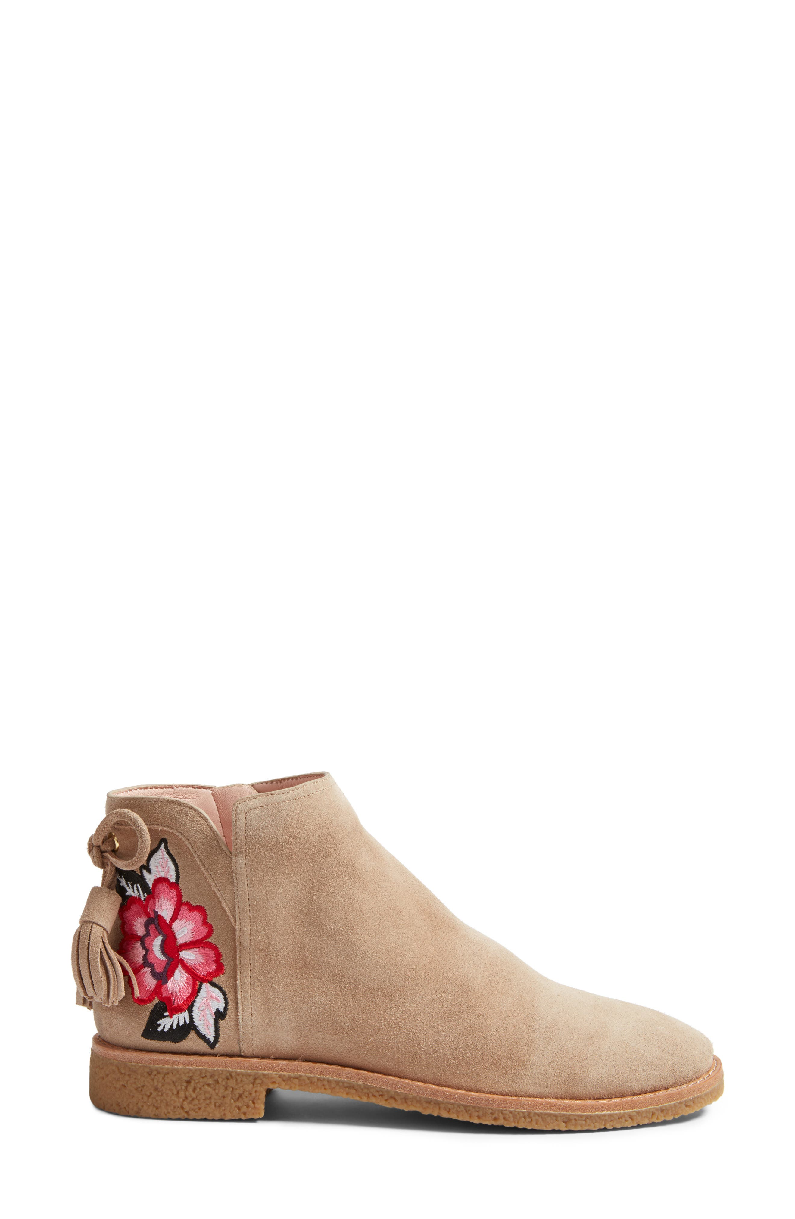 belleville bootie,                             Alternate thumbnail 3, color,                             Desert Cow Suede