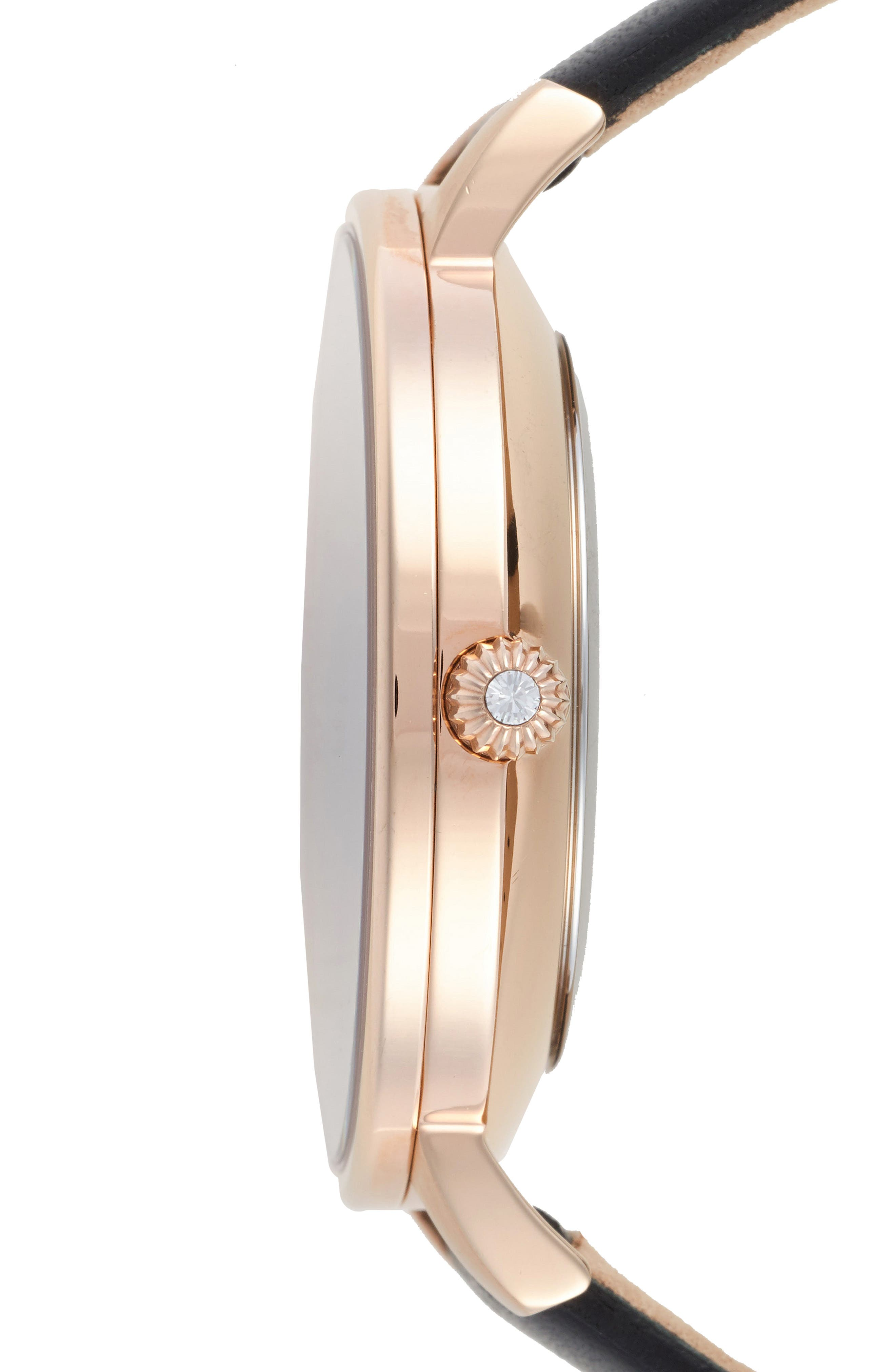 Alternate Image 3  - Ted Baker London Kate Leather Strap Watch, 38mm
