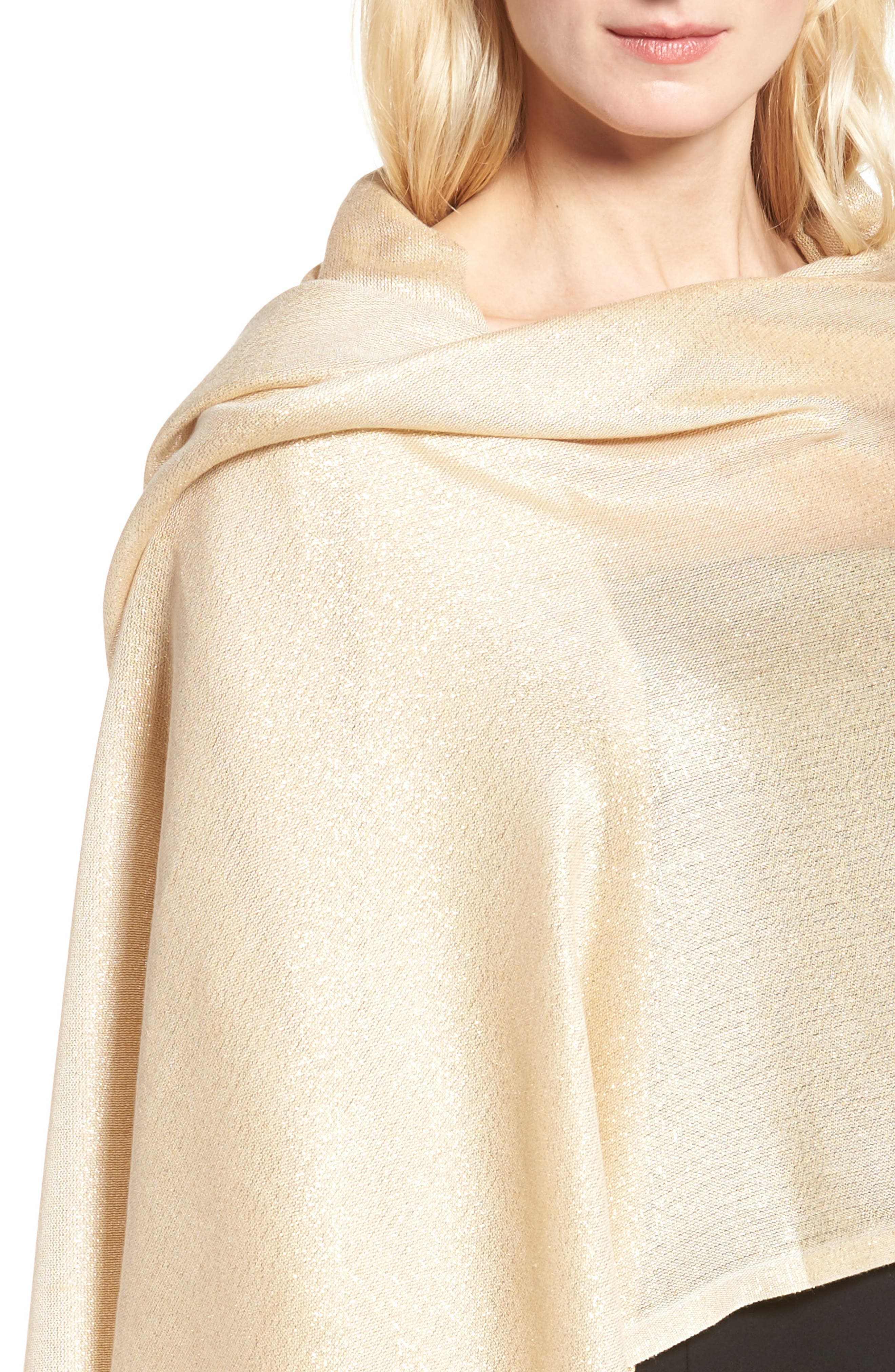 Alternate Image 4  - Glint Metallic Lightweight Wrap
