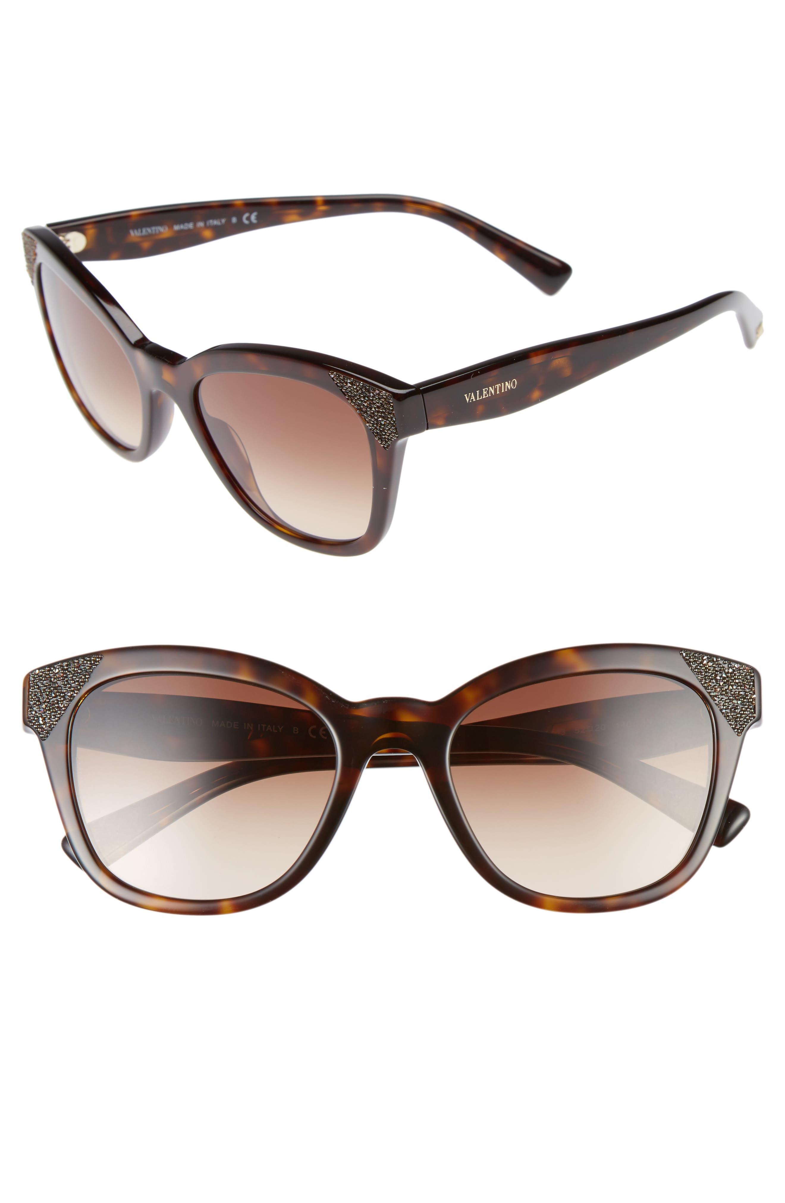Valentino 52mm Cat Eye Sunglasses
