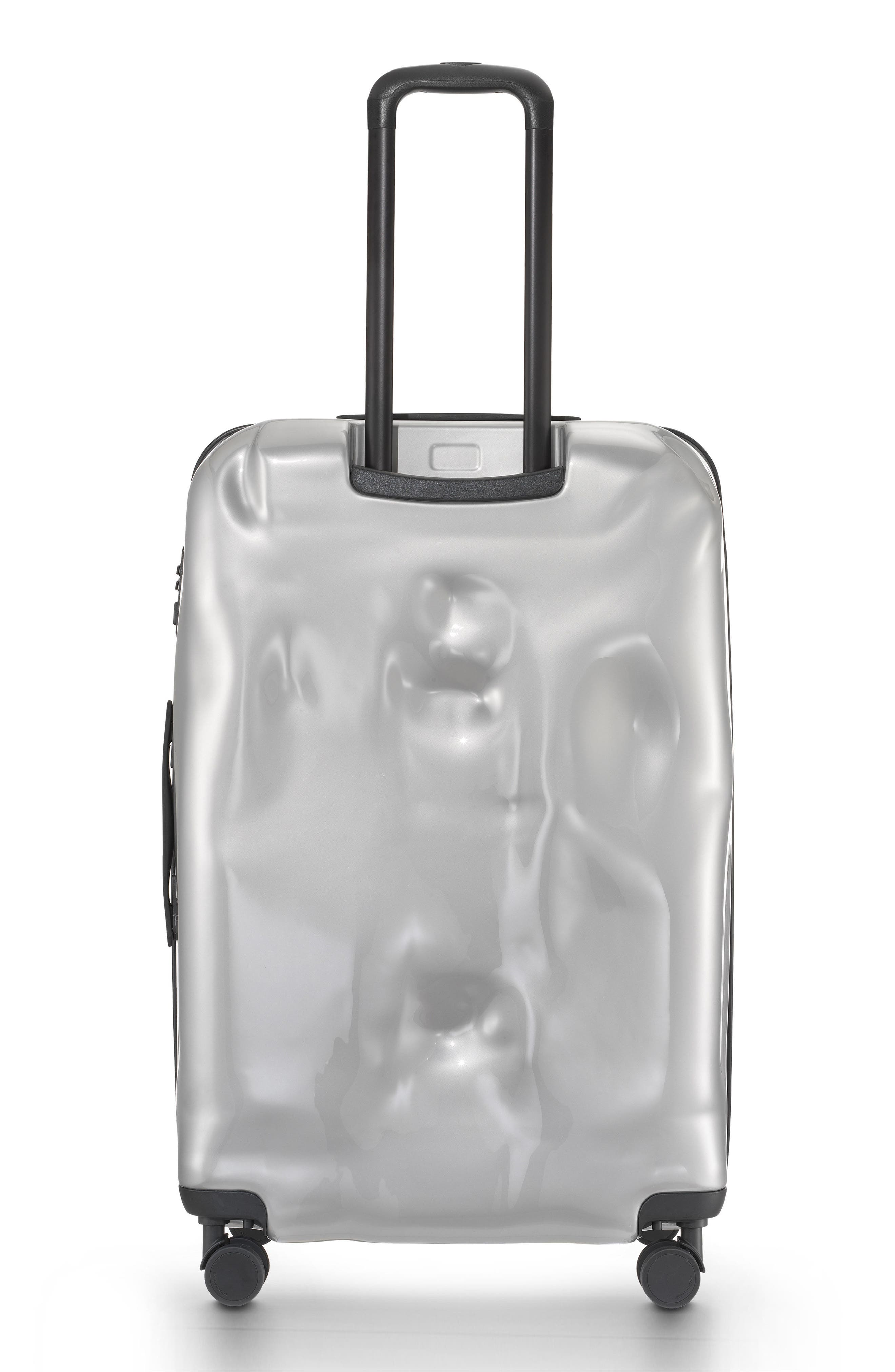 Large Bright Trolley Case,                             Alternate thumbnail 2, color,                             Silver Medal