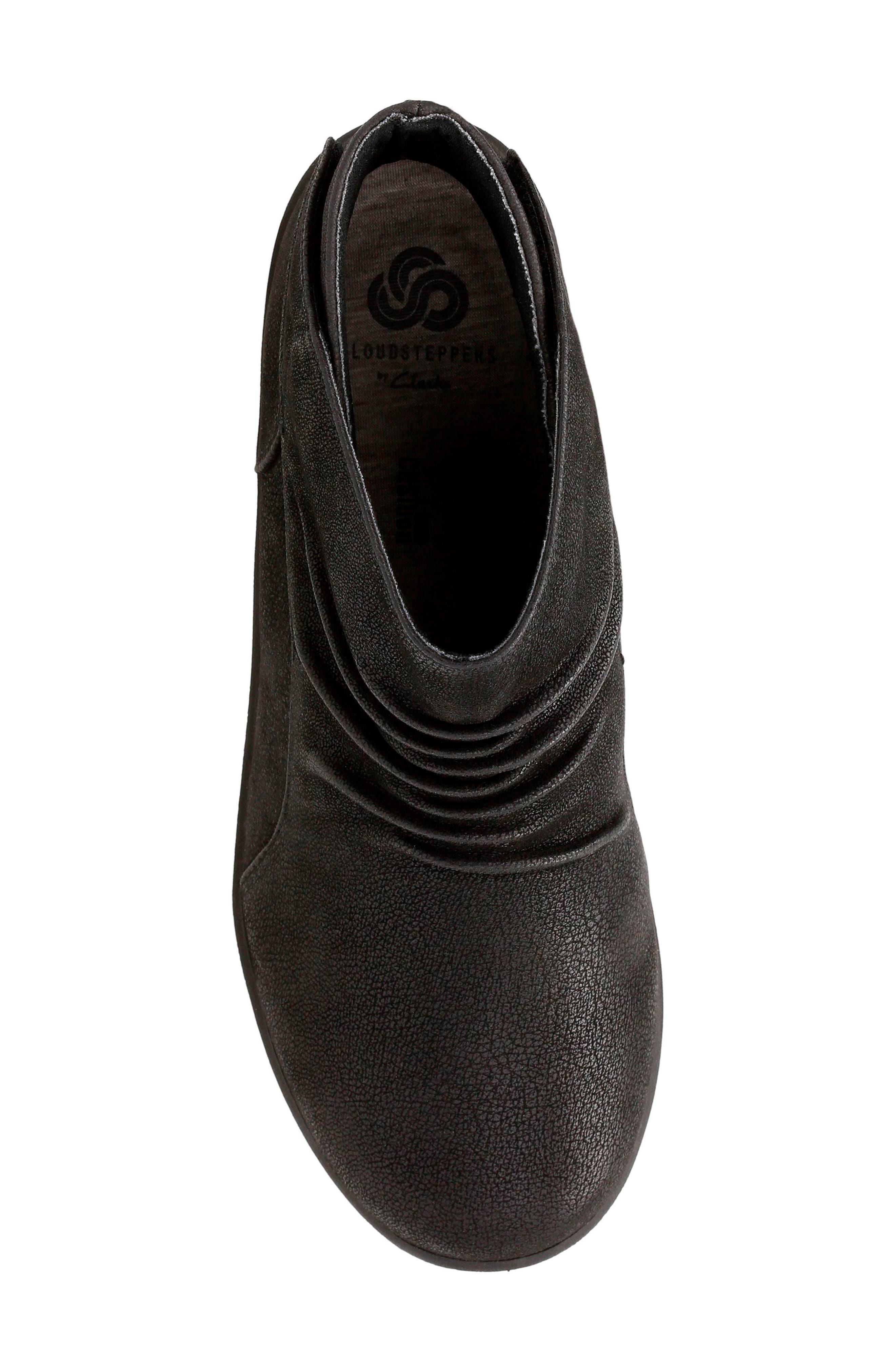 Sillian Sway Boot,                             Alternate thumbnail 5, color,                             Black Fabric