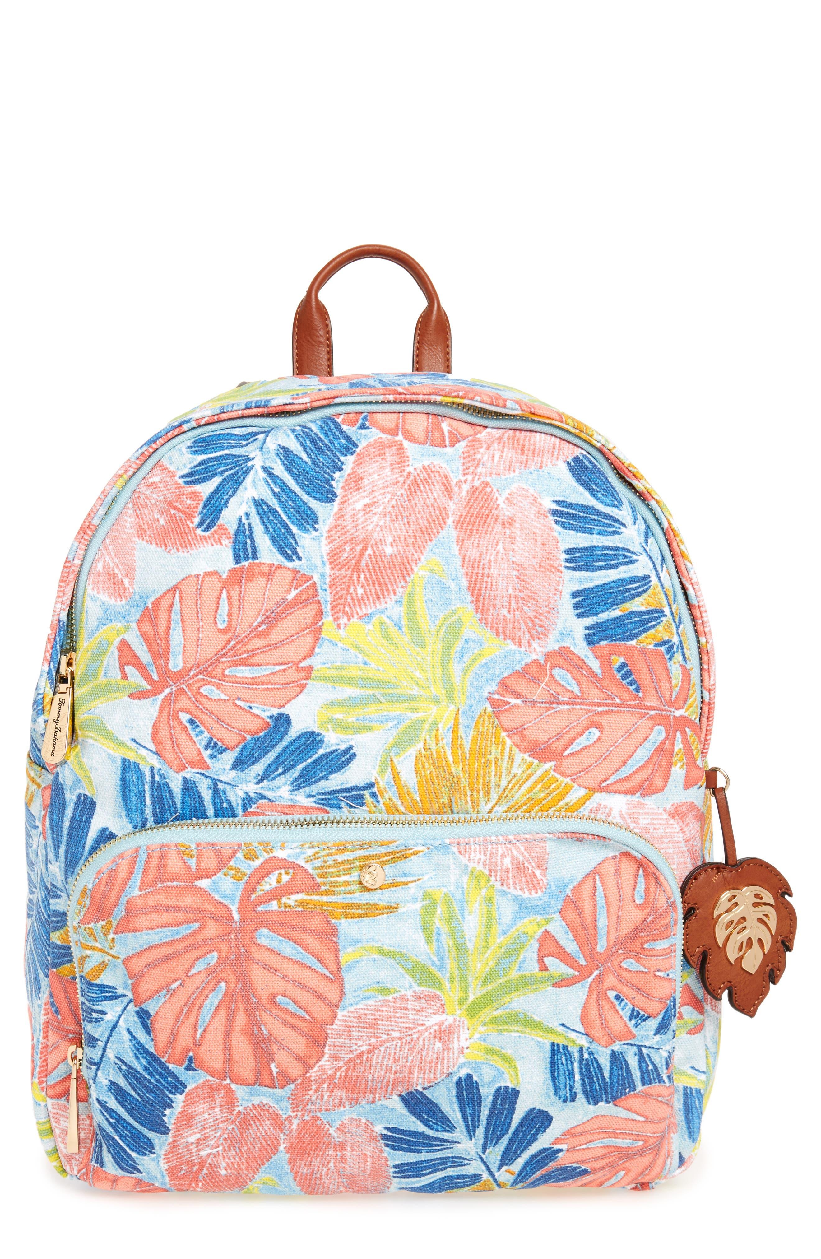 Maui Backpack,                         Main,                         color, Artsy Leaf