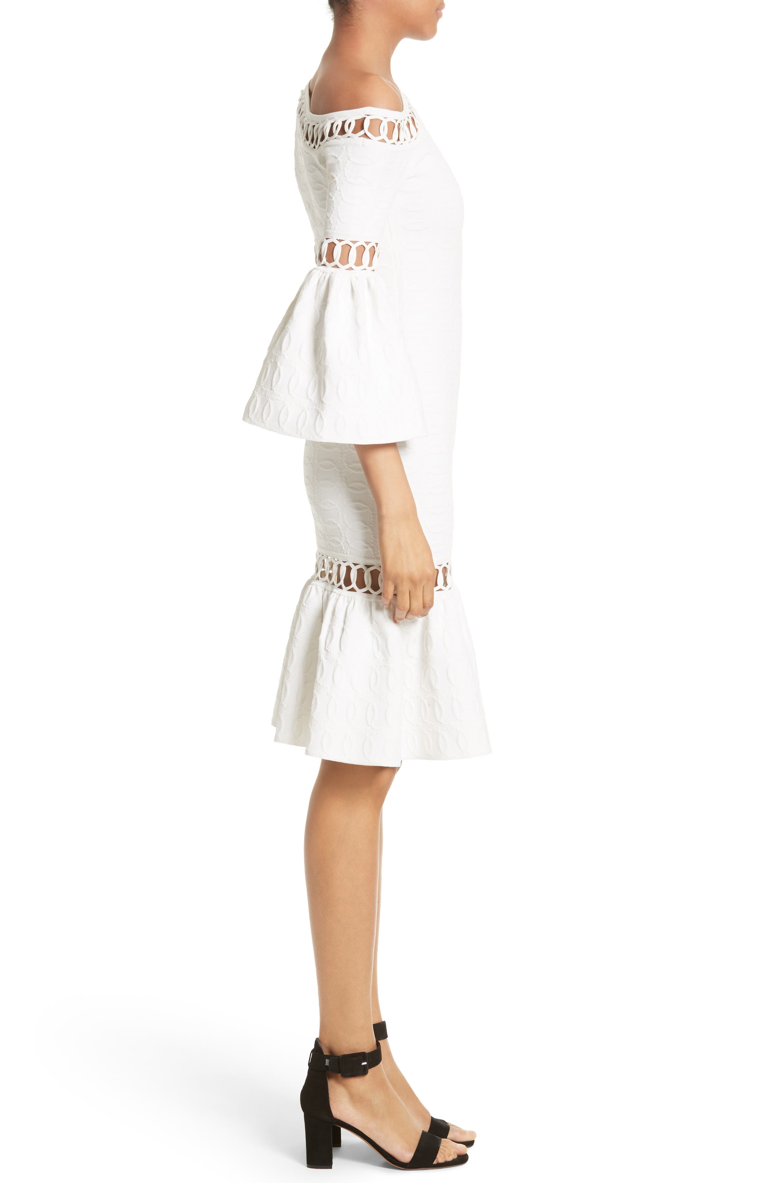 Alternate Image 3  - Jonathan Simkhai Chain Link Lace Fit & Flare Dress