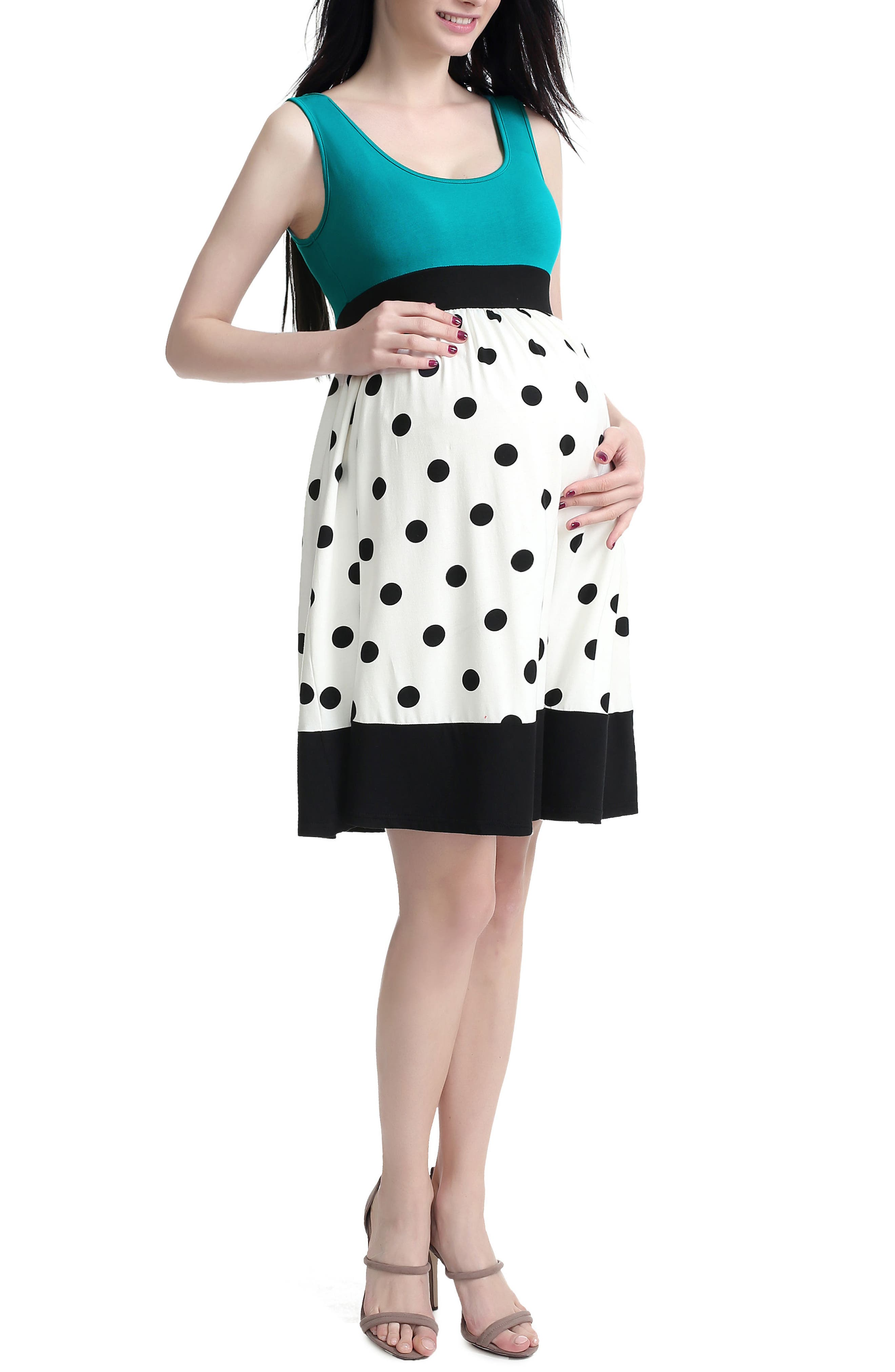 KIMI AND KAI Chel Dot Maternity Tank Dress