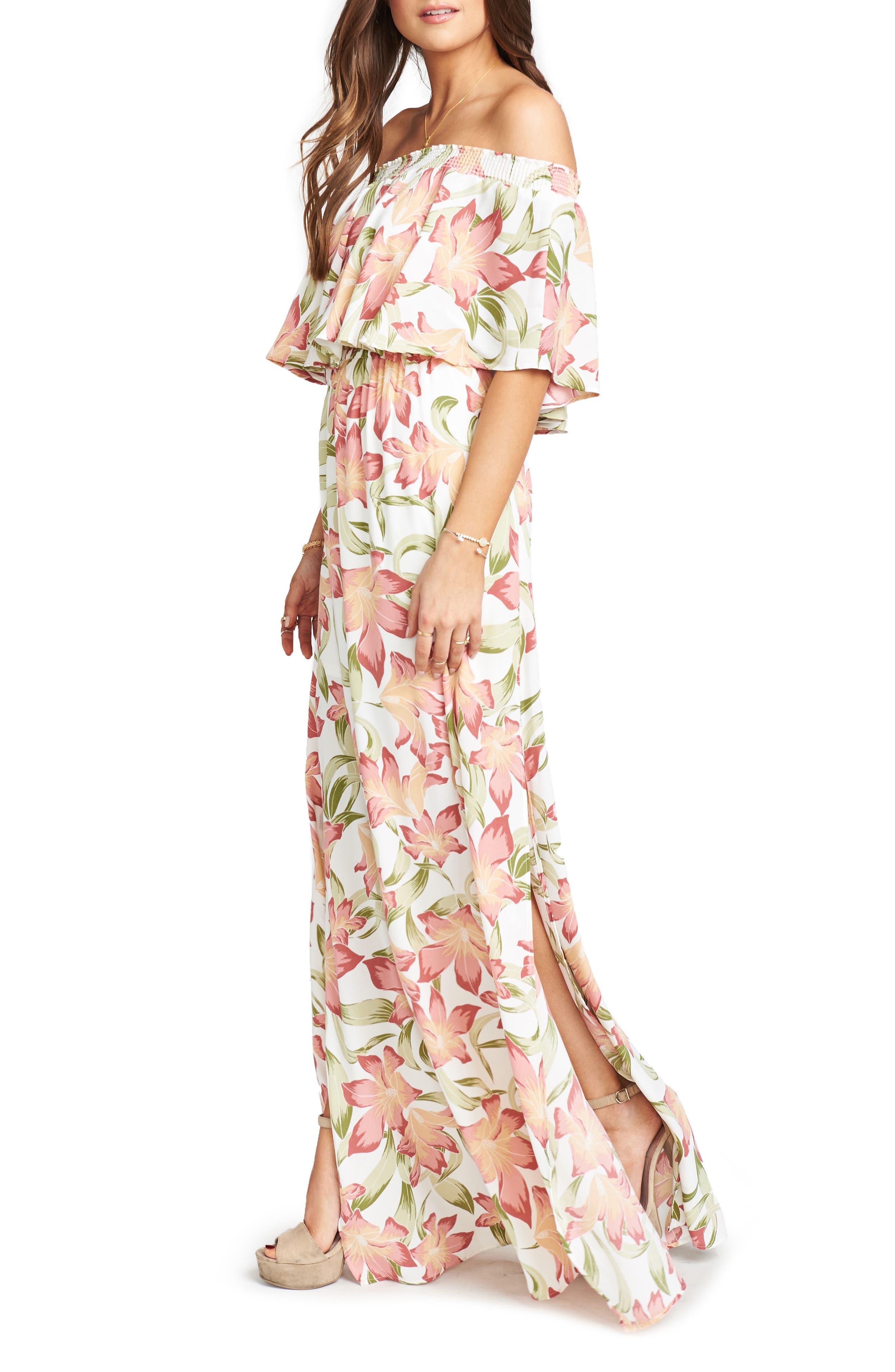 Hacienda Maxi Dress,                             Alternate thumbnail 3, color,                             Lily Lady Crepe