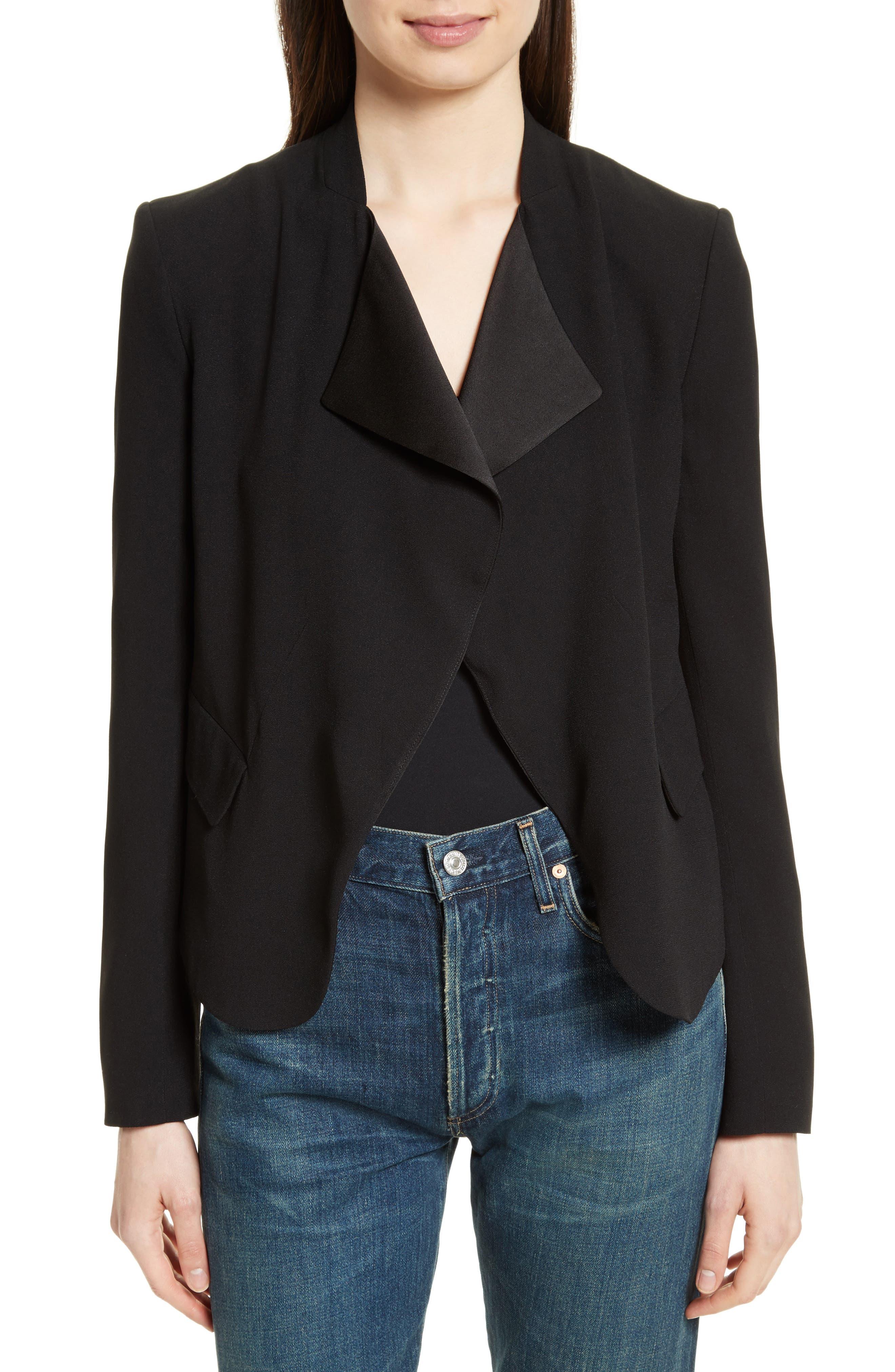 Kensington Peplum Jacket,                         Main,                         color, Black