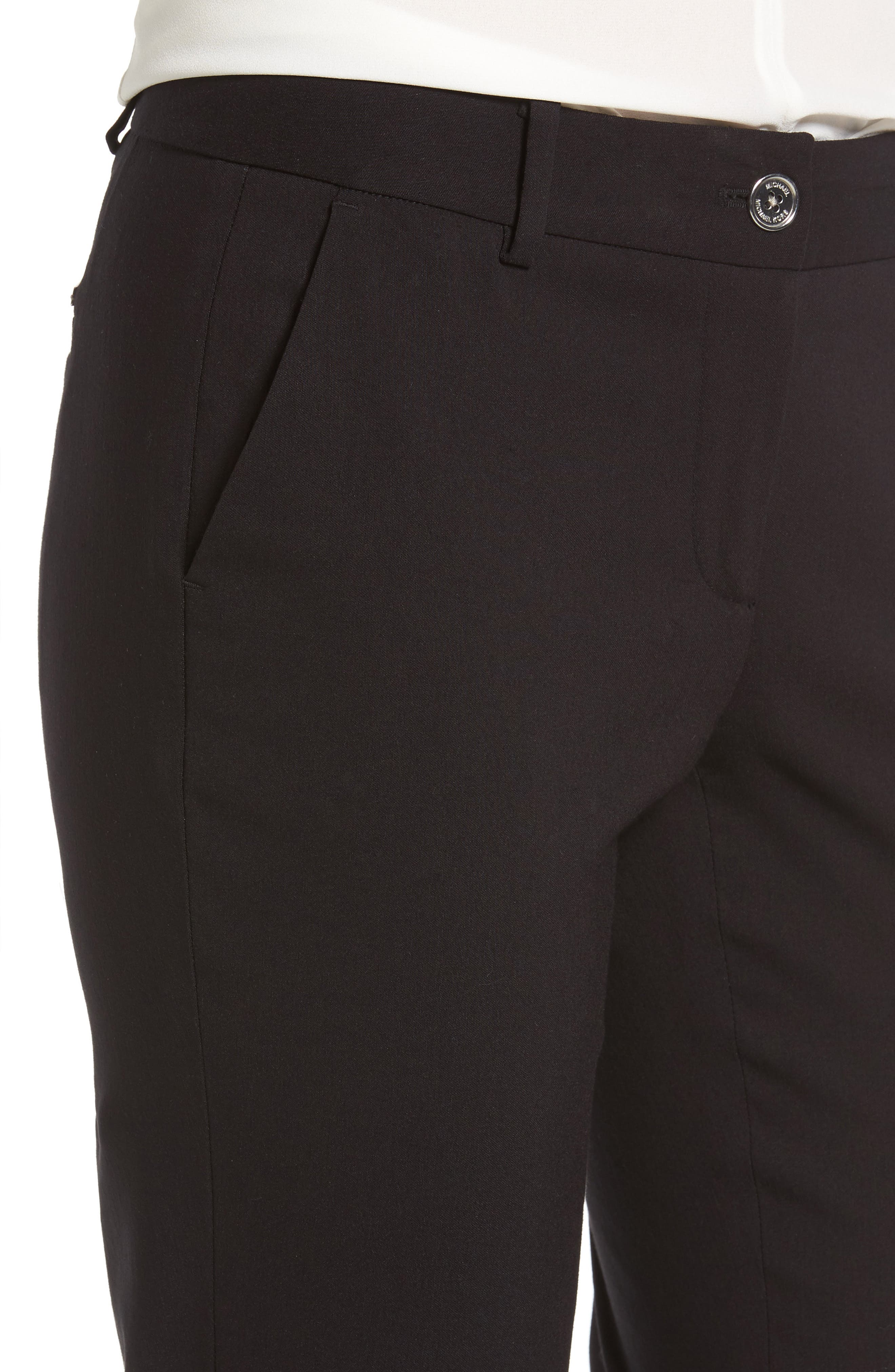 Miranda Slim Ankle Pants,                             Alternate thumbnail 4, color,                             Black