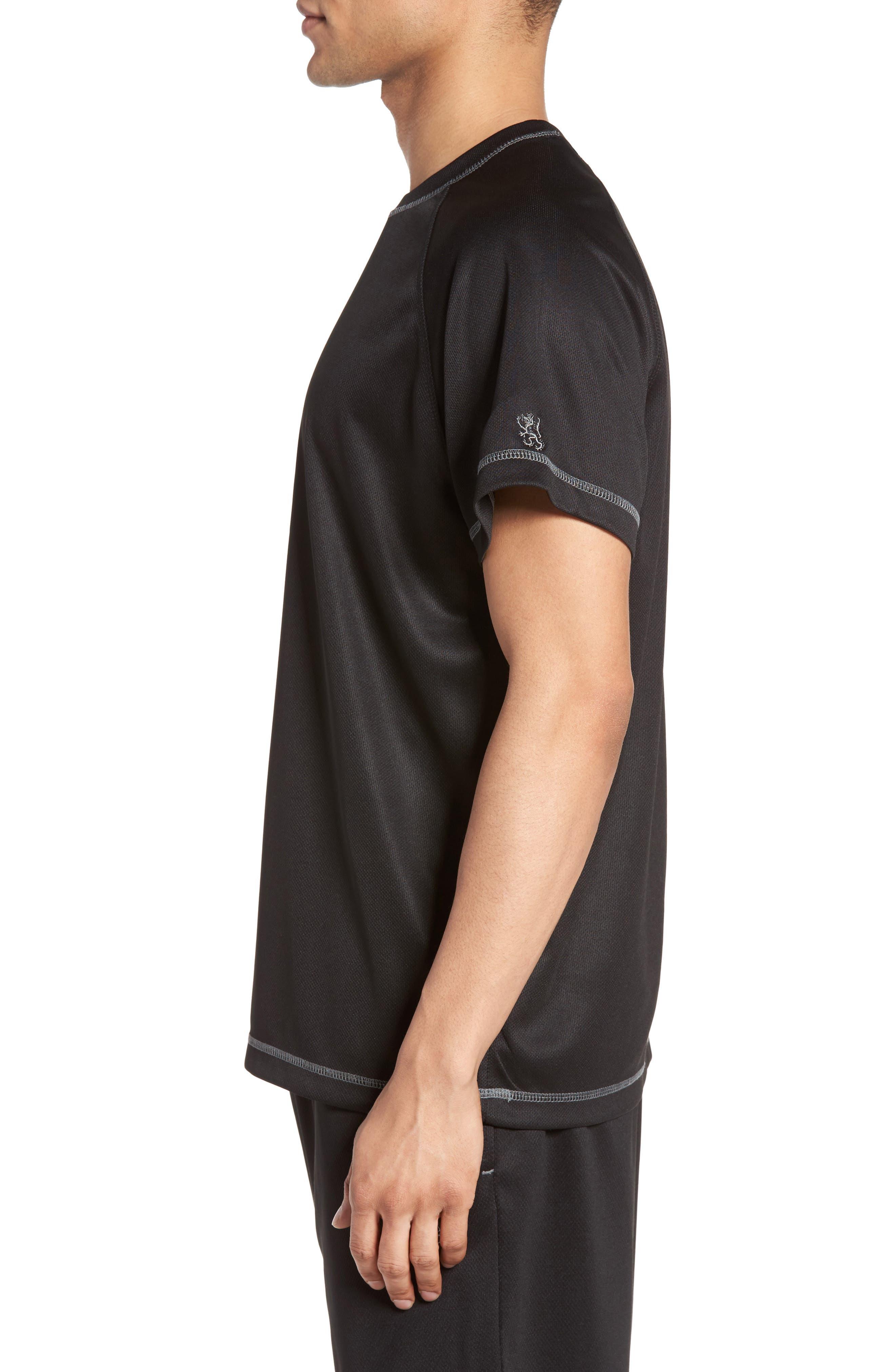 Work Out Crewneck T-Shirt,                             Alternate thumbnail 3, color,                             Black