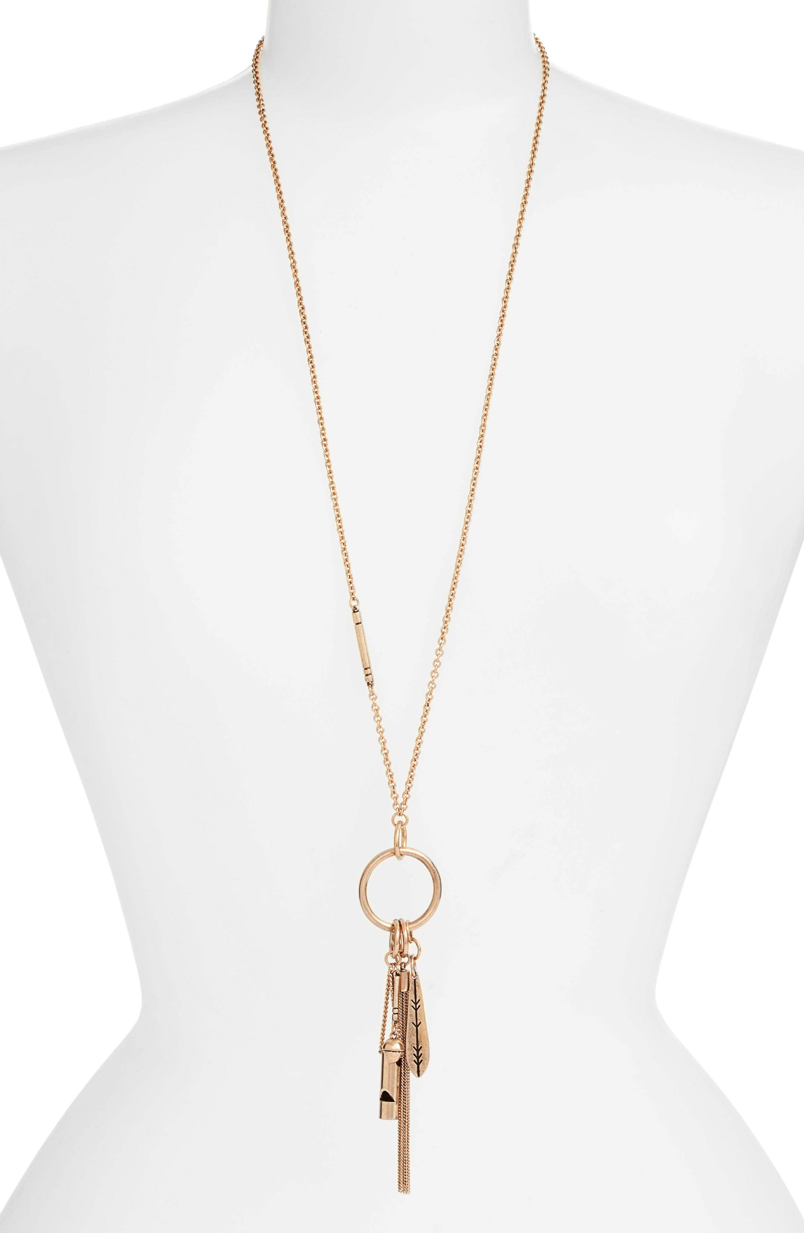 Treasure & Bond Long Charm Pendant Necklace
