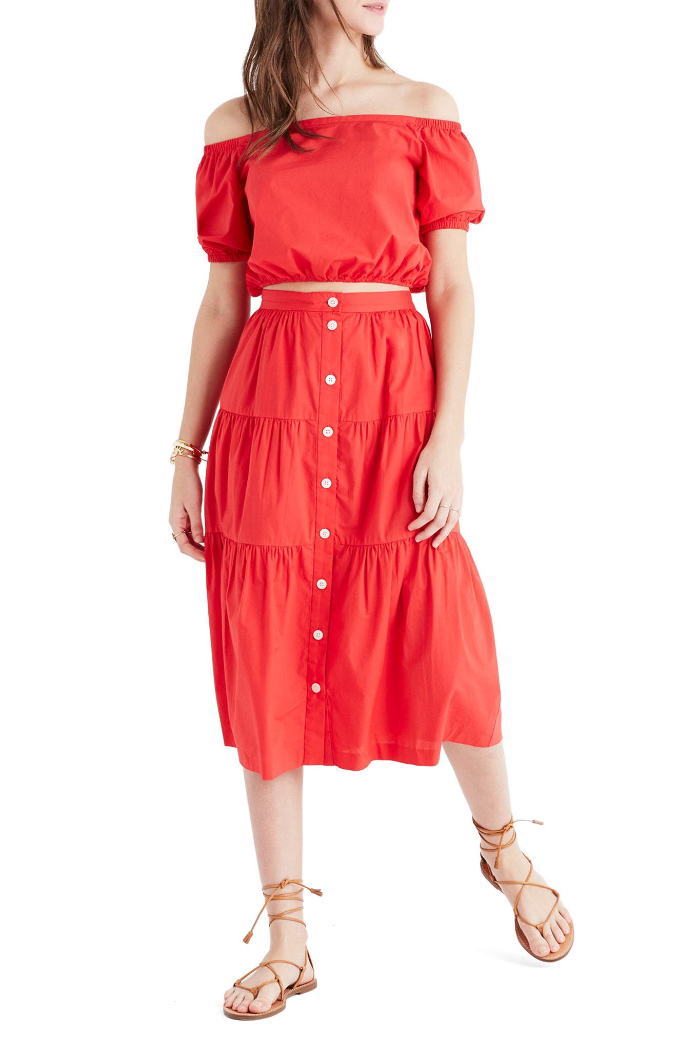 Main Image - Madewell Bistro Midi Skirt