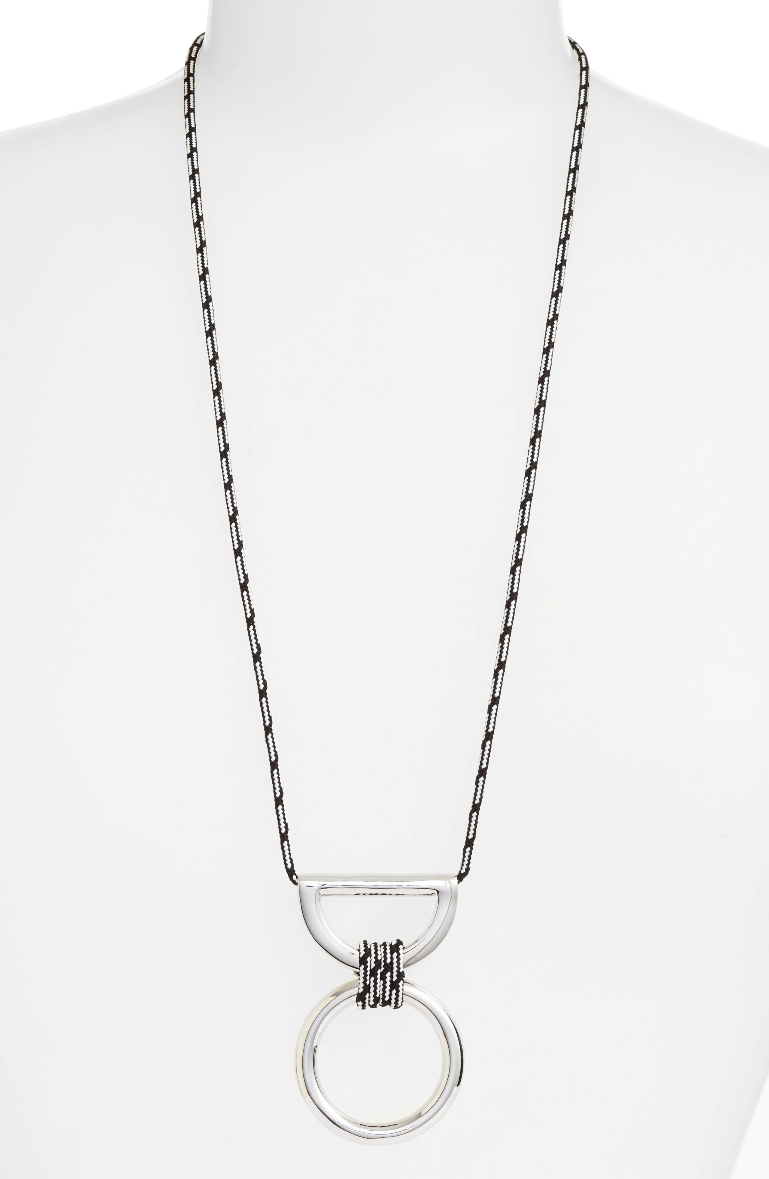 Alternate Image 1 Selected - Rebecca Minkoff Climbing Rope Pendant Necklace