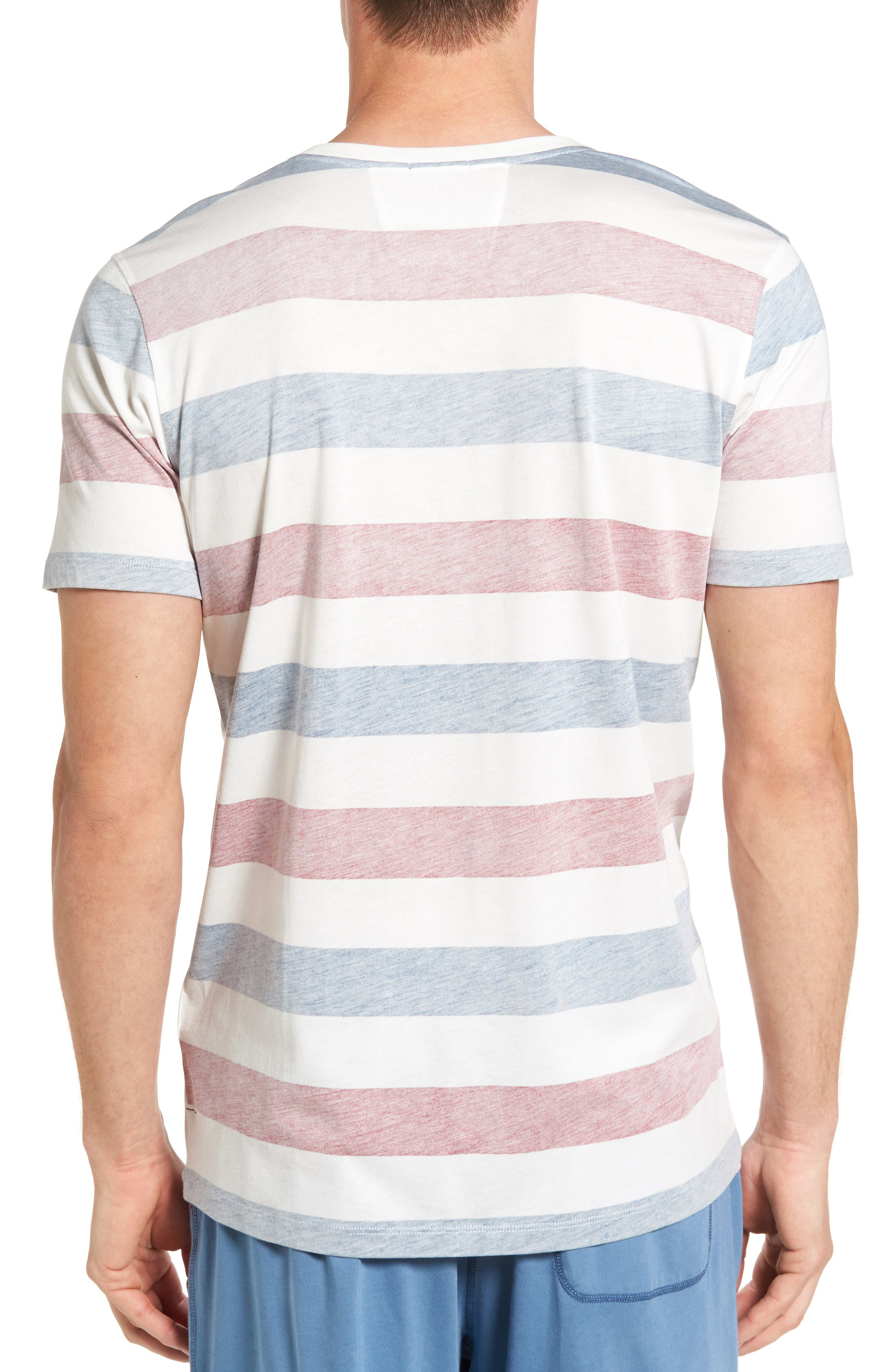Alternate Image 2  - Daniel Buchler Reverse Stripe Pima Cotton & Modal Crewneck T-Shirt