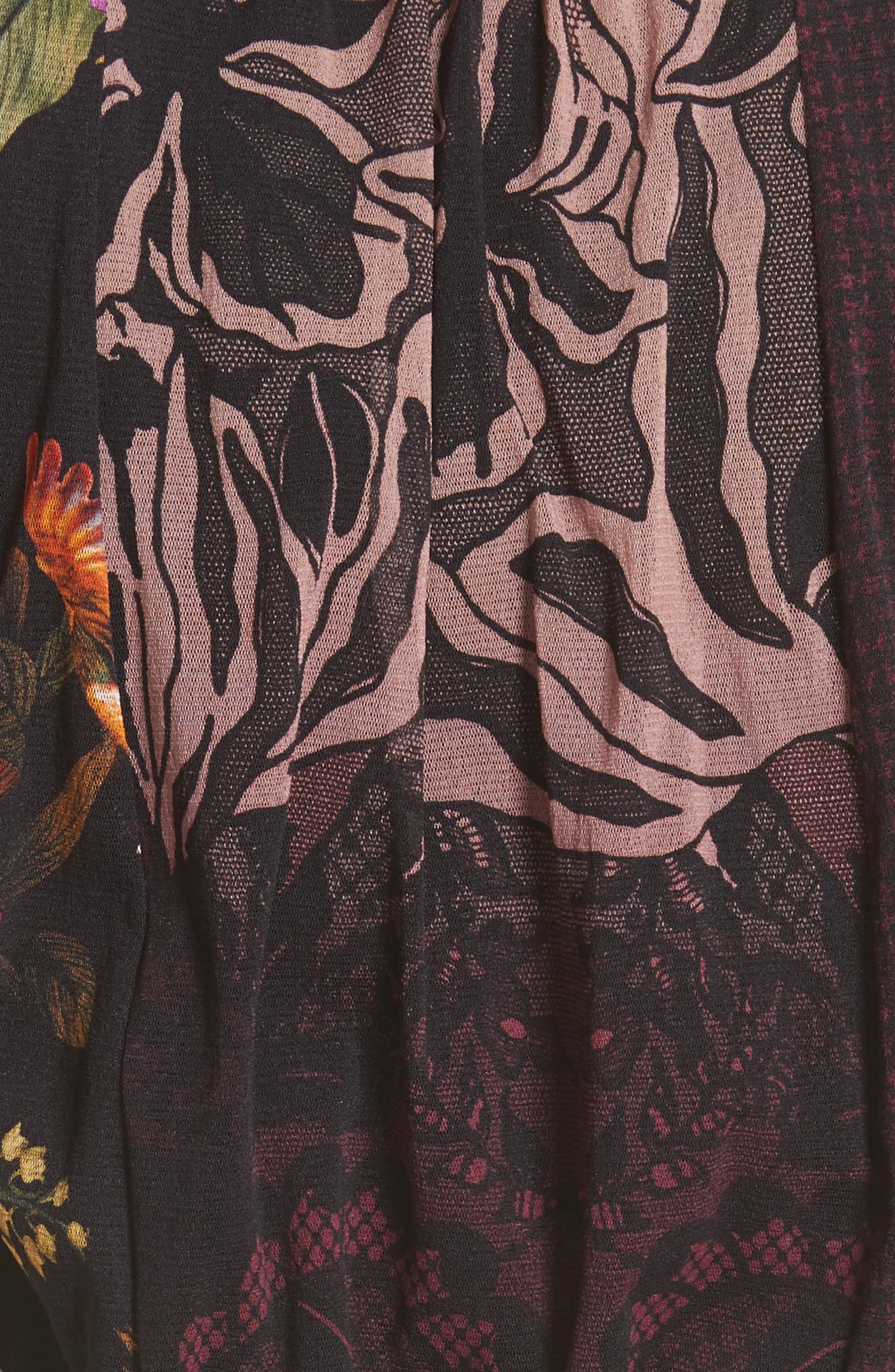 Belted Tulle Dress,                             Alternate thumbnail 3, color,                             Plum