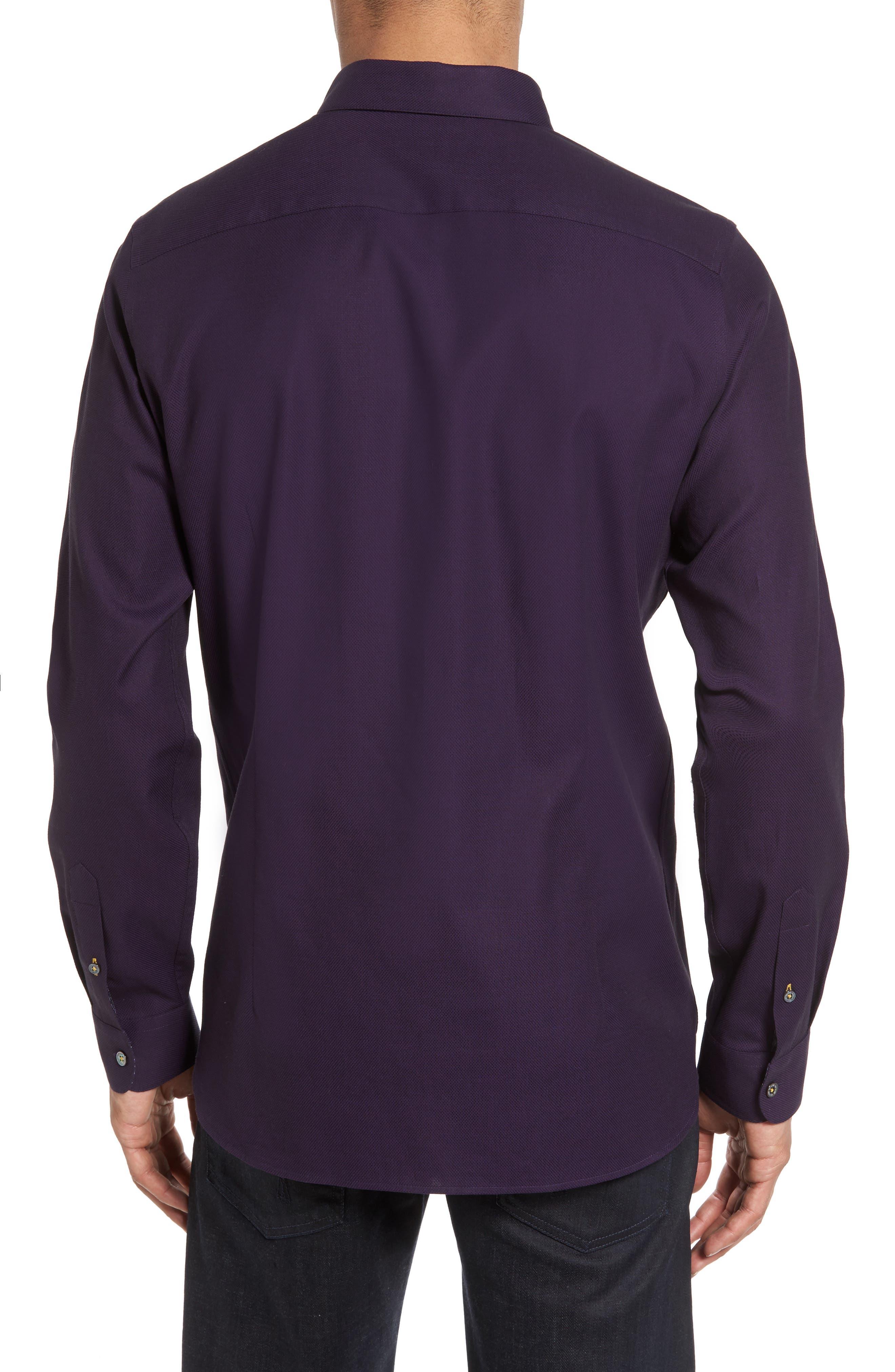 Nordlux Modern Slim Fit Stretch Cotton Sport Shirt,                             Alternate thumbnail 2, color,                             Deep Purple