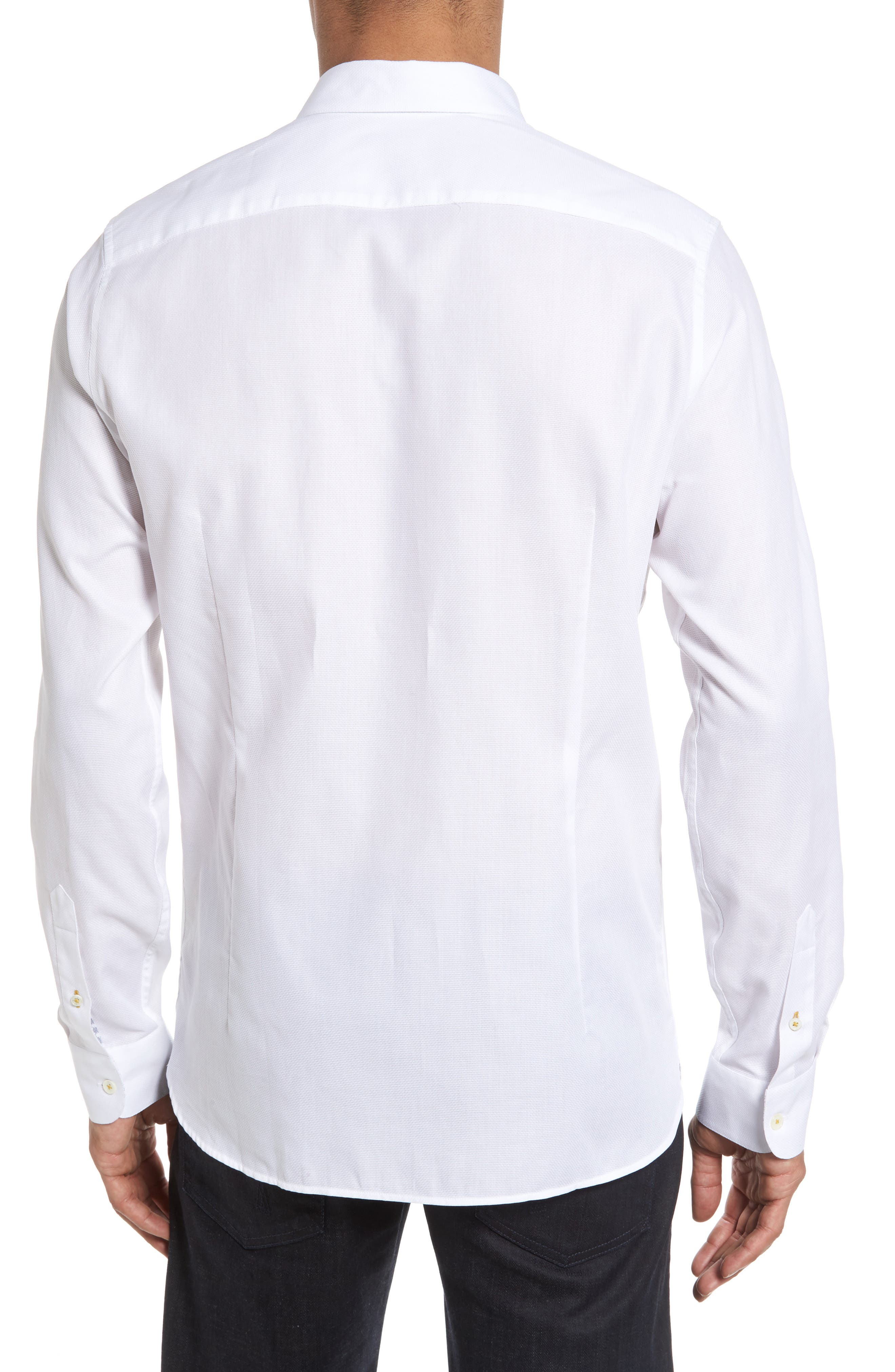 Alternate Image 2  - Ted Baker London Nordlux Modern Slim Fit Stretch Cotton Sport Shirt
