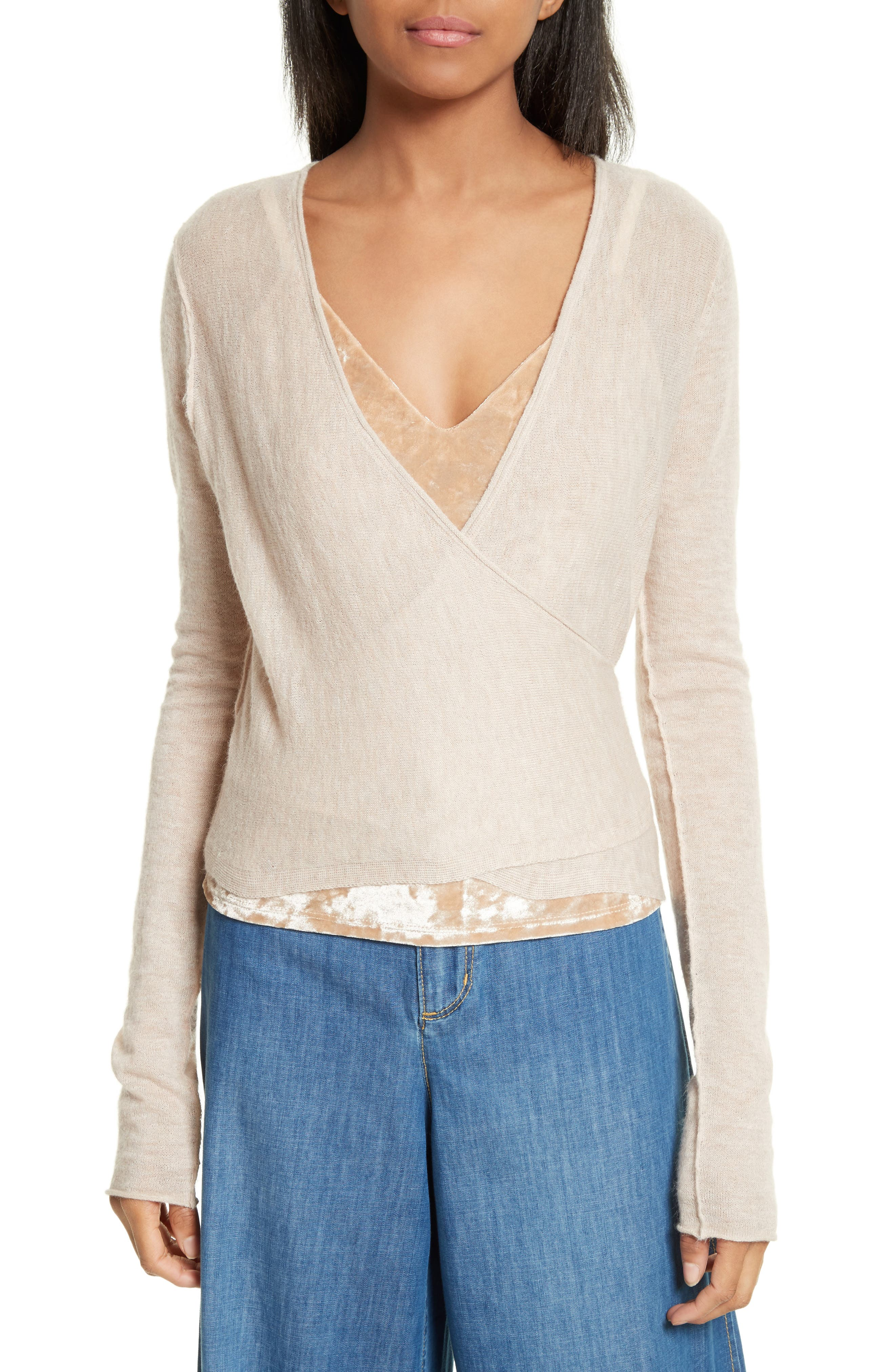 Alternate Image 1 Selected - Alice + Olivia Lauralee Ballerina Wrap Cardigan