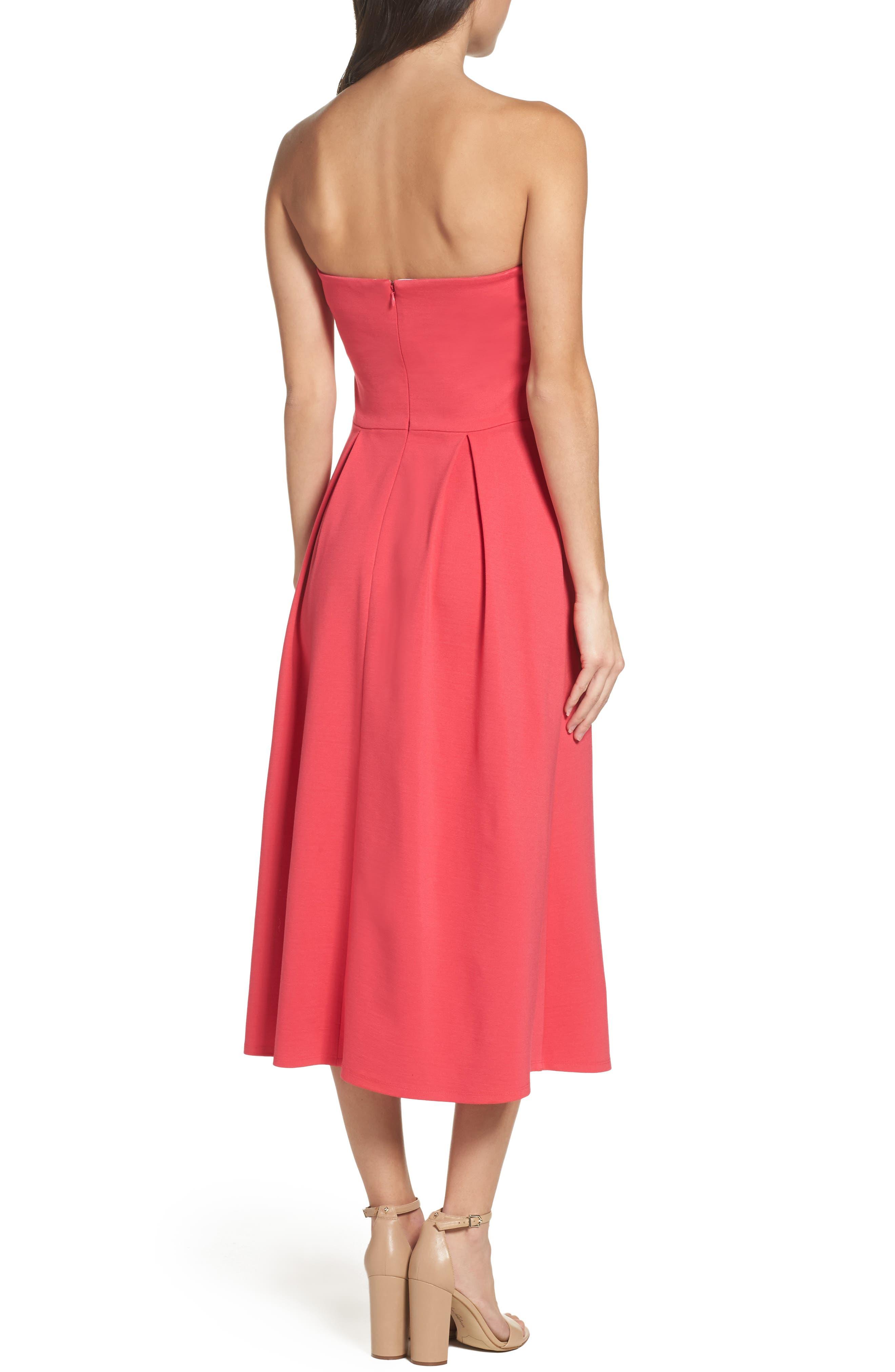 Alternate Image 2  - Charles Henry Strapless Midi Dress