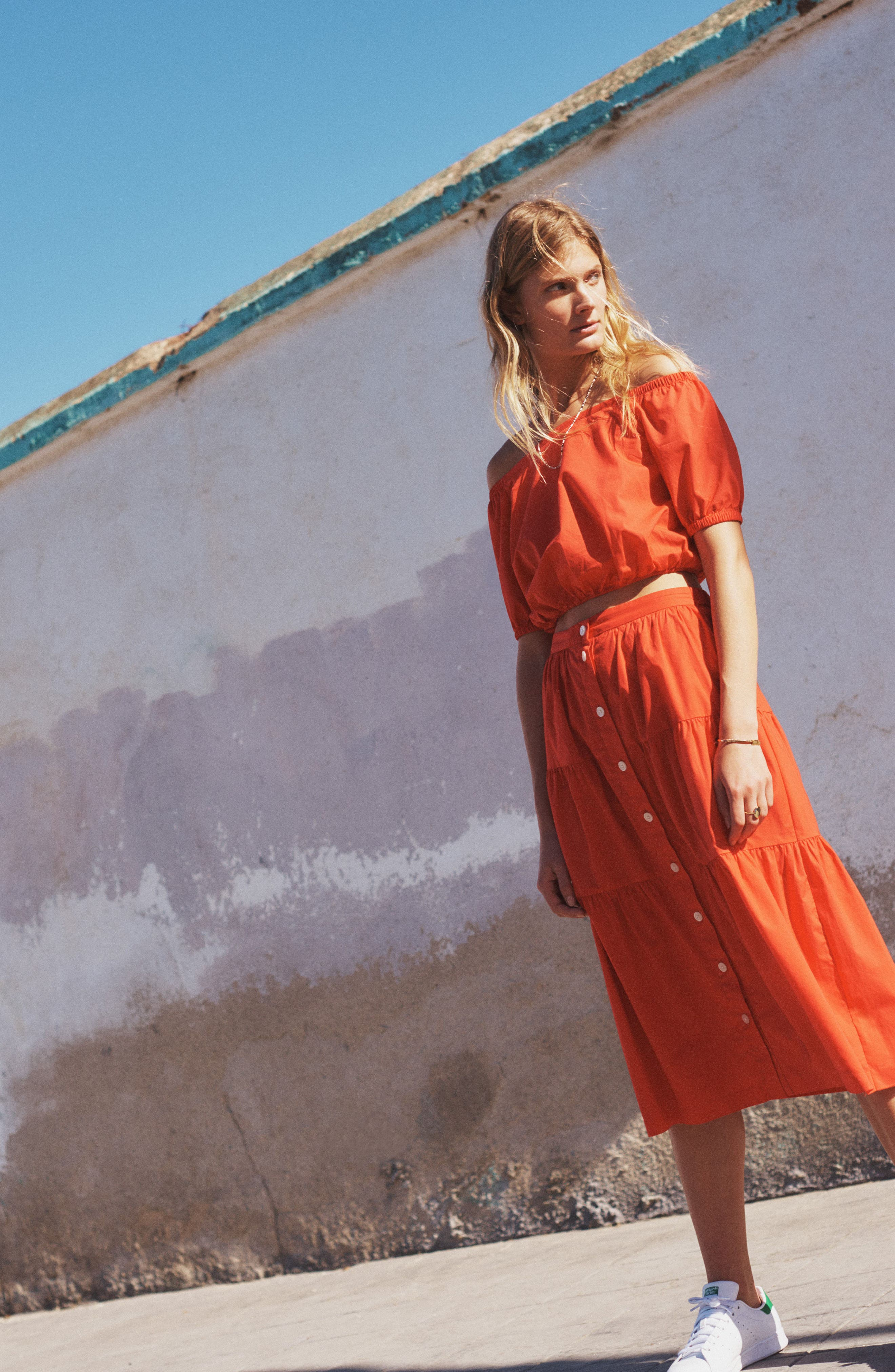 Alternate Image 2  - Madewell Bistro Midi Skirt