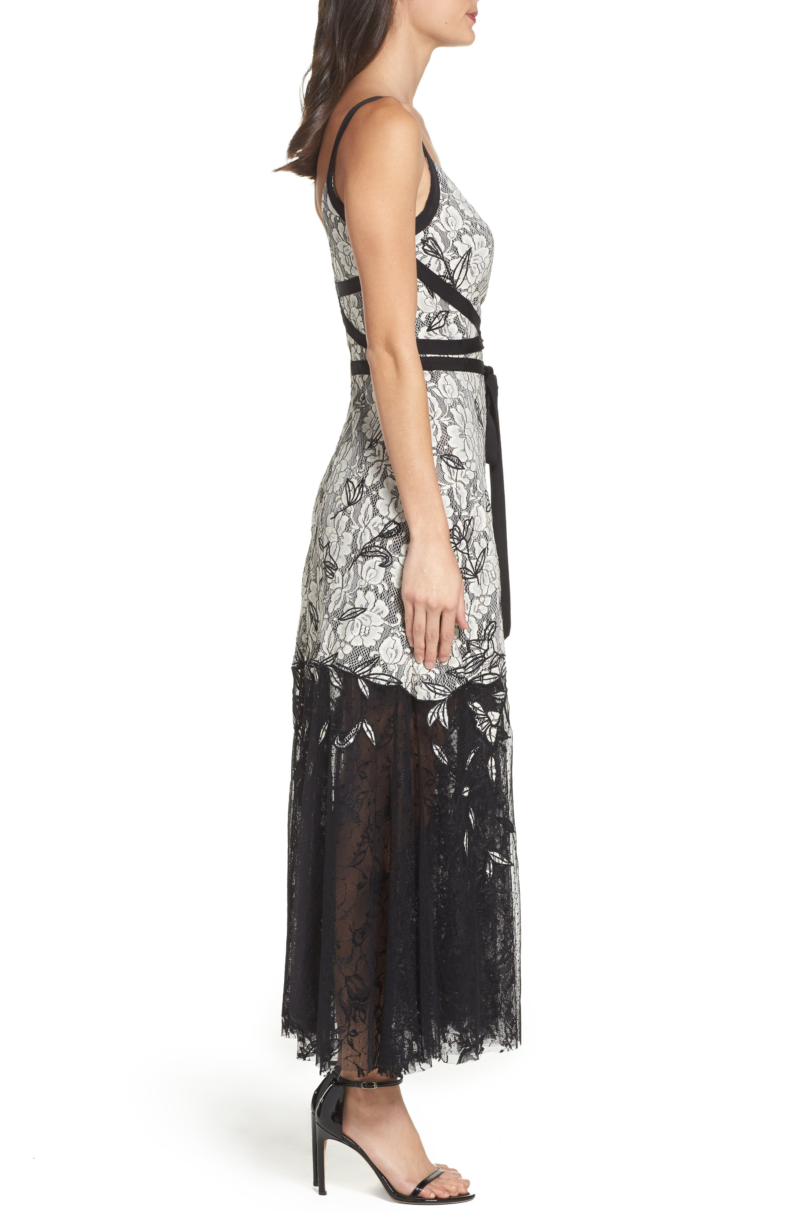 Alternate Image 3  - Sachin & Babi Noir Rose Lace Gown