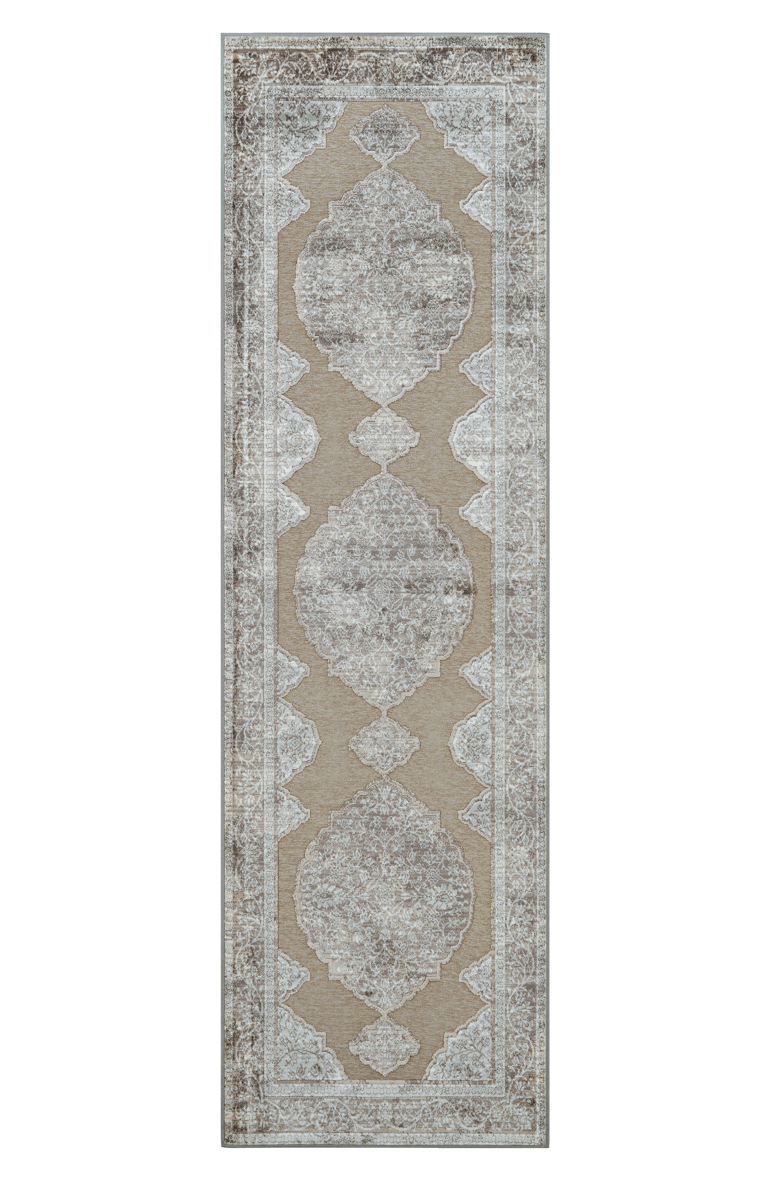 Alternate Image 2  - Couristan Cire Floral Medallion Area Rug