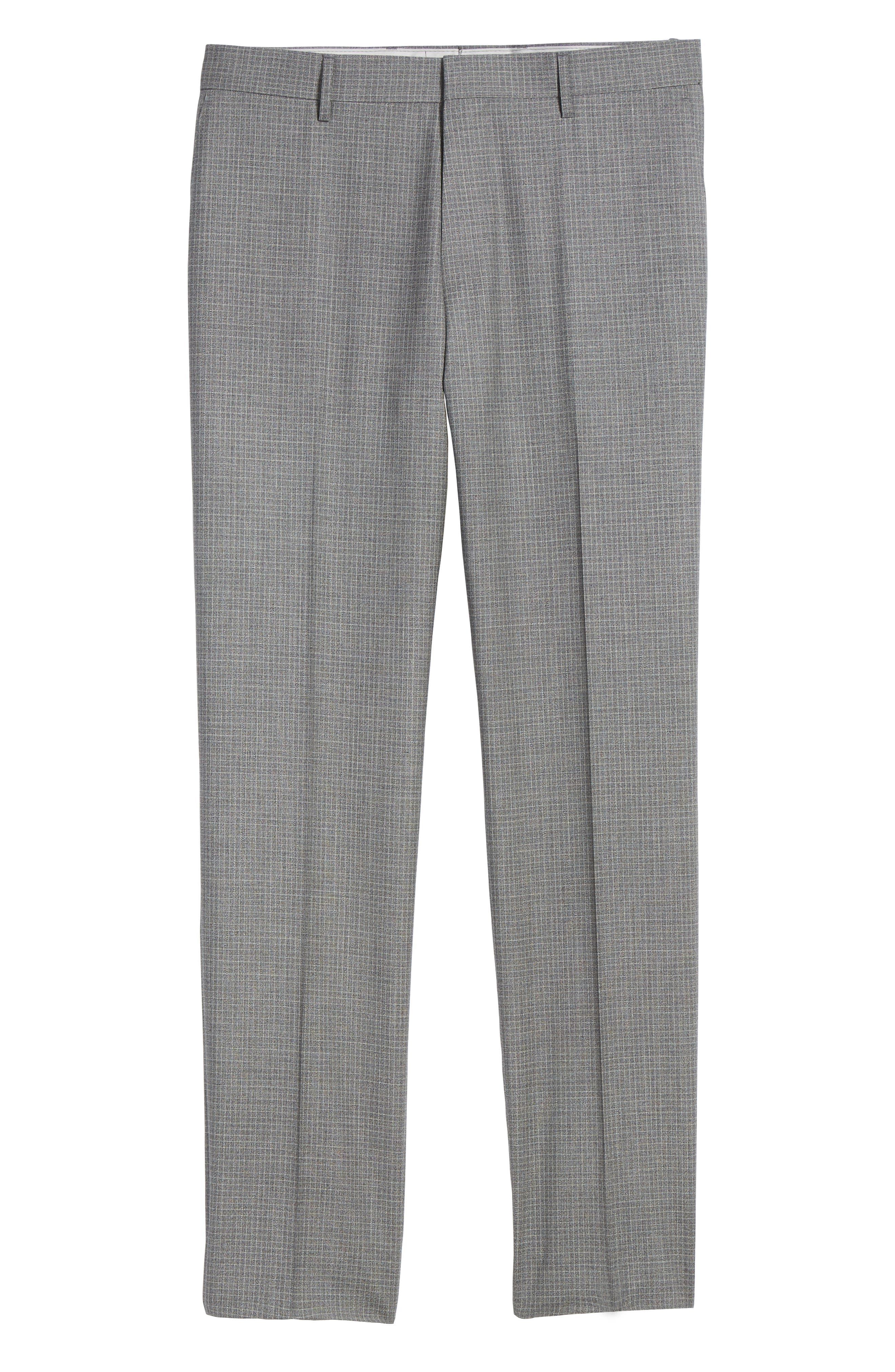 Alternate Image 6  - BOSS Genesis Flat Front Check Wool Trousers