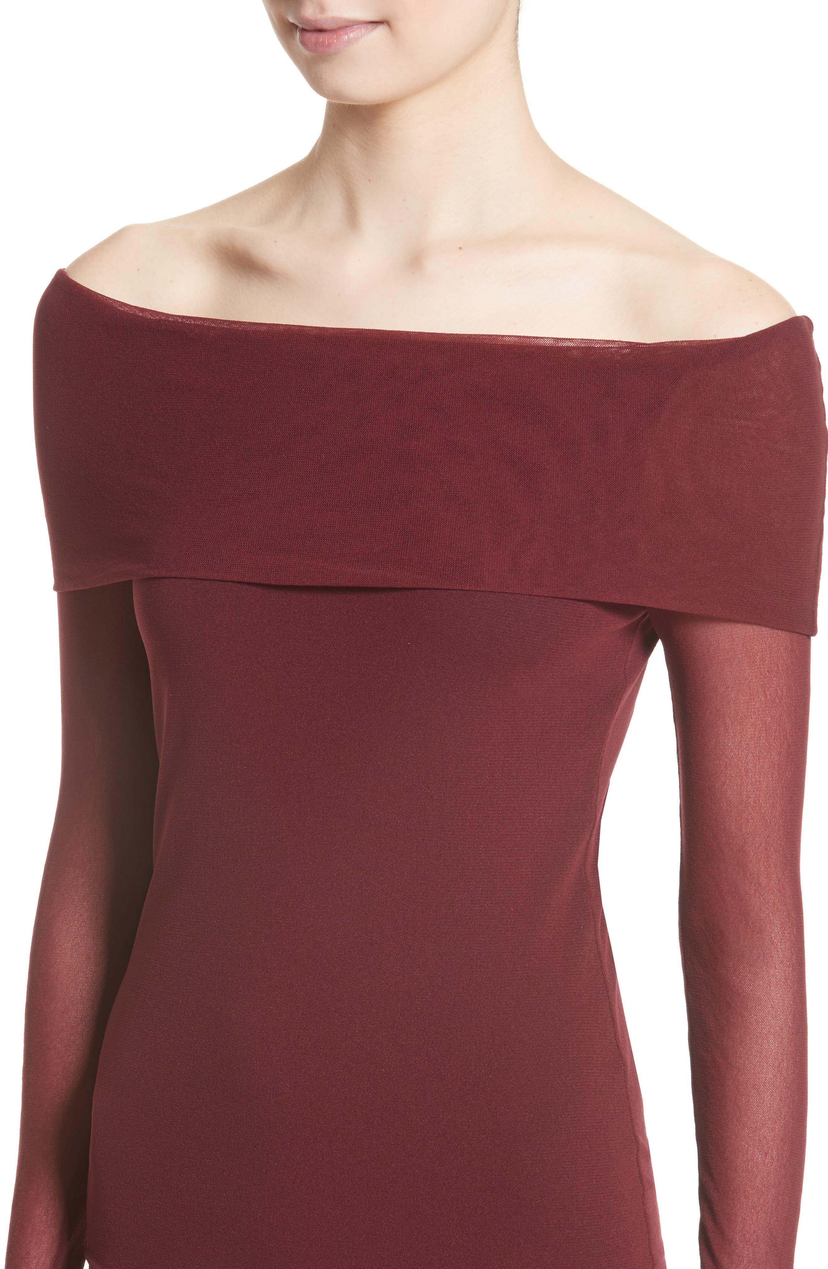 Alternate Image 6  - Fuzzi Tulle Off the Shoulder Midi Dress