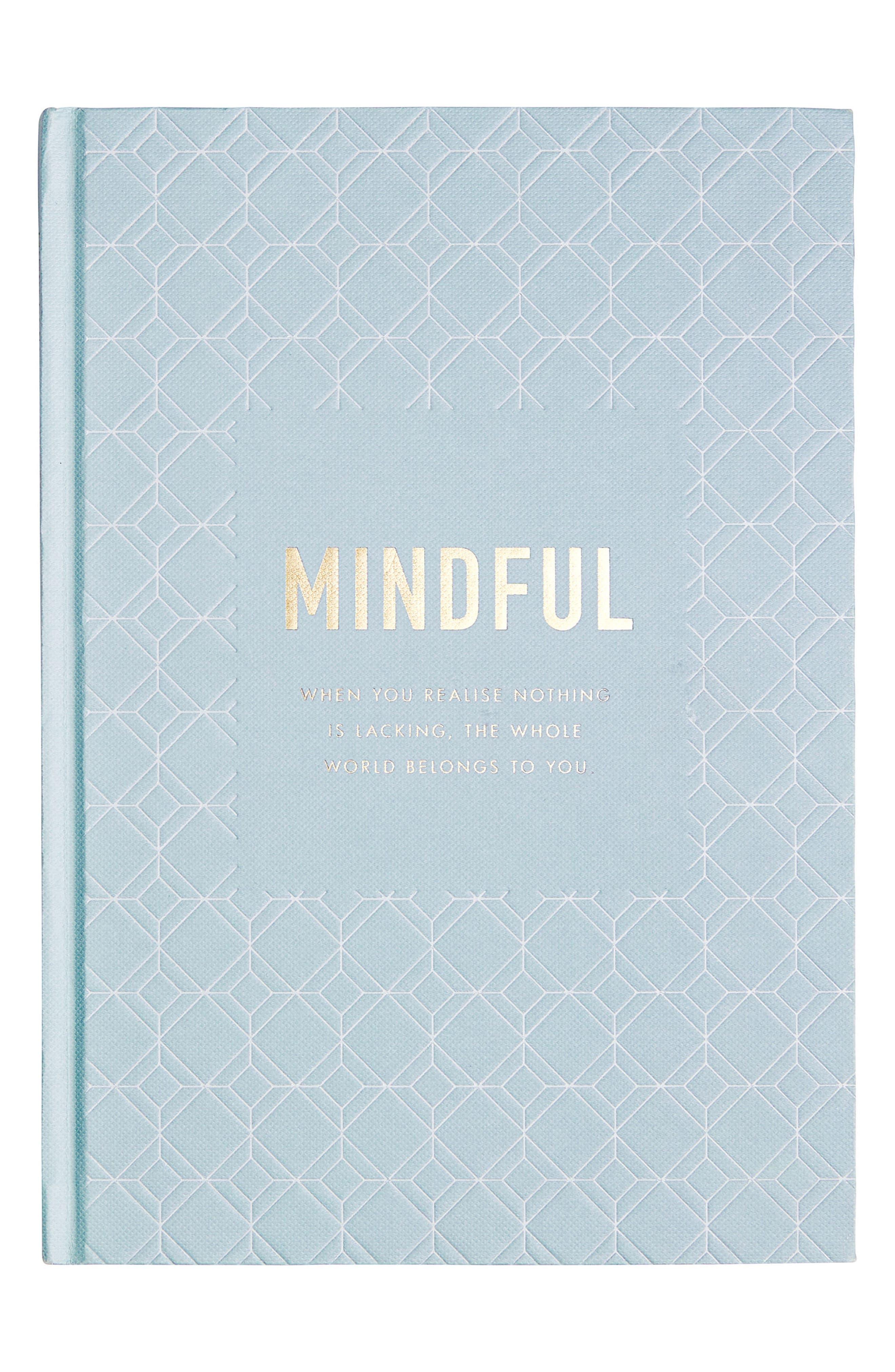 Mindfulness Journal,                             Main thumbnail 1, color,                             Light Blue