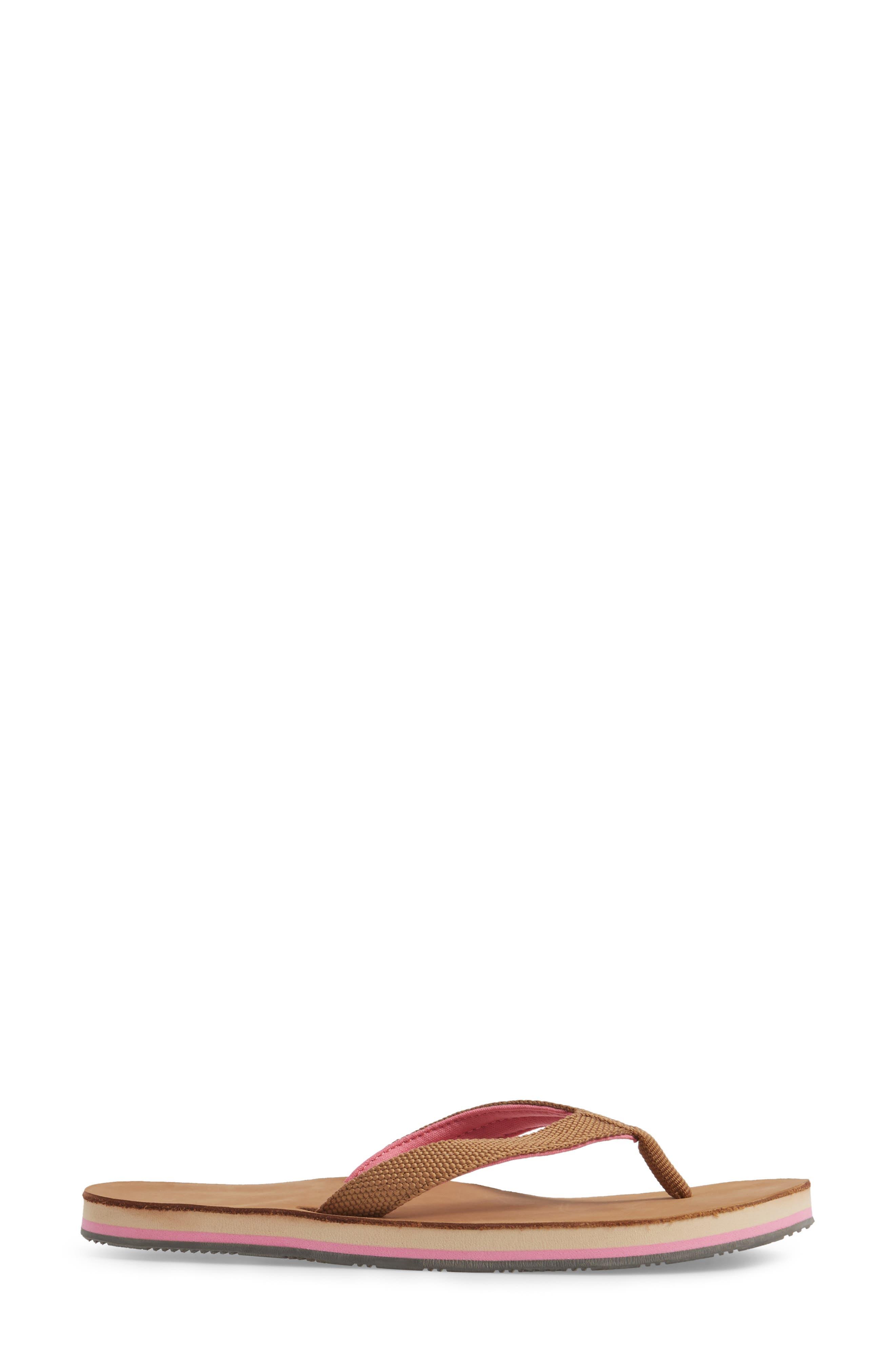 Scouts Flip Flop,                             Alternate thumbnail 3, color,                             Tan/ Shell Pink