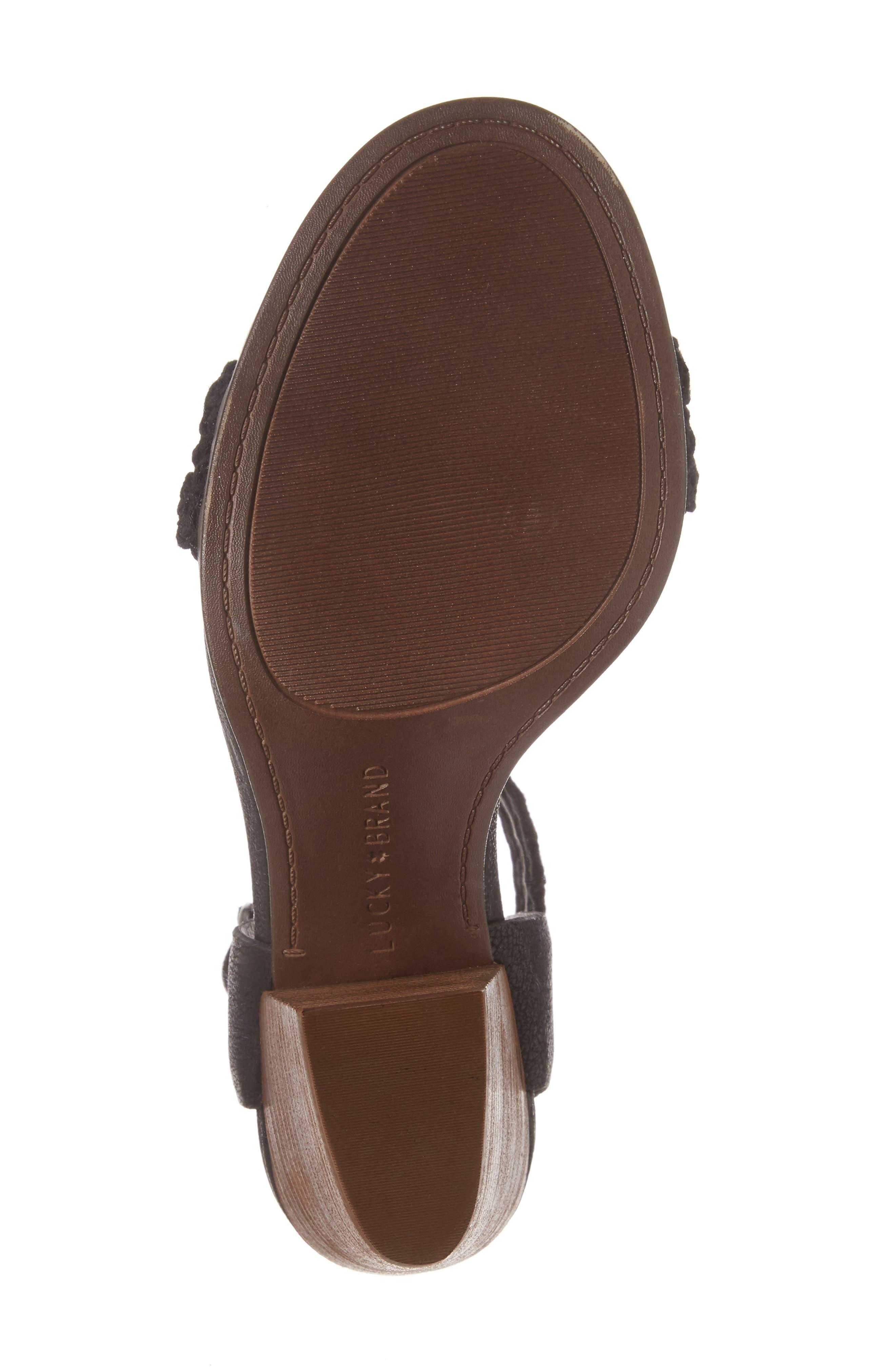 Oakes Ankle Strap Sandal,                             Alternate thumbnail 6, color,                             Black Leather